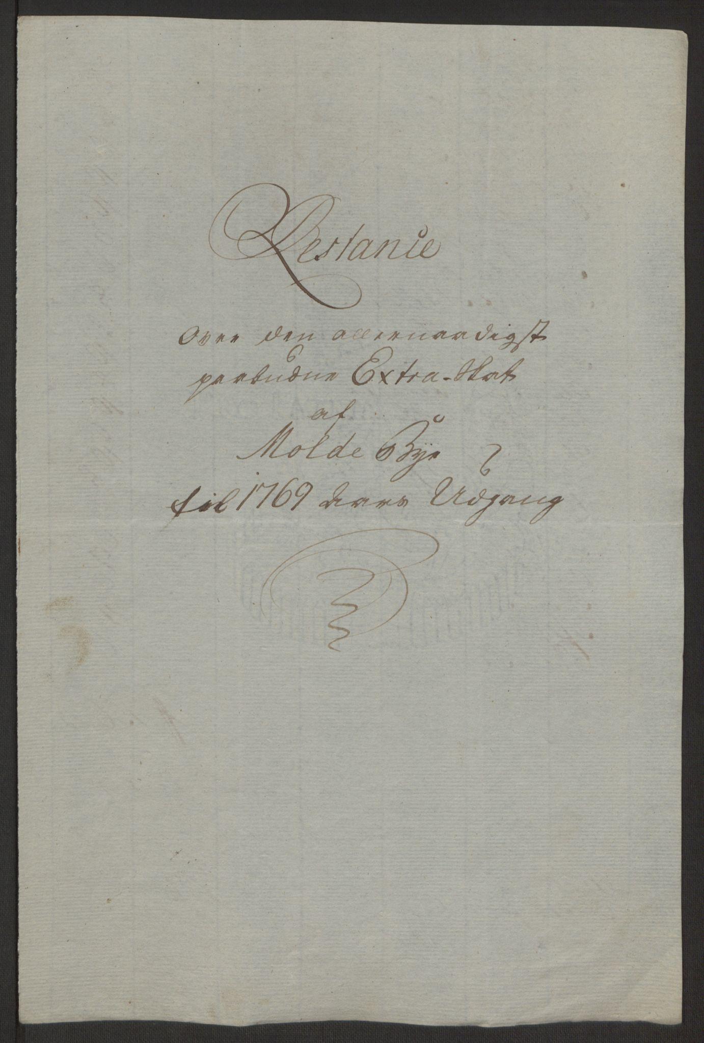 RA, Rentekammeret inntil 1814, Reviderte regnskaper, Byregnskaper, R/Rq/L0487: [Q1] Kontribusjonsregnskap, 1762-1772, s. 179