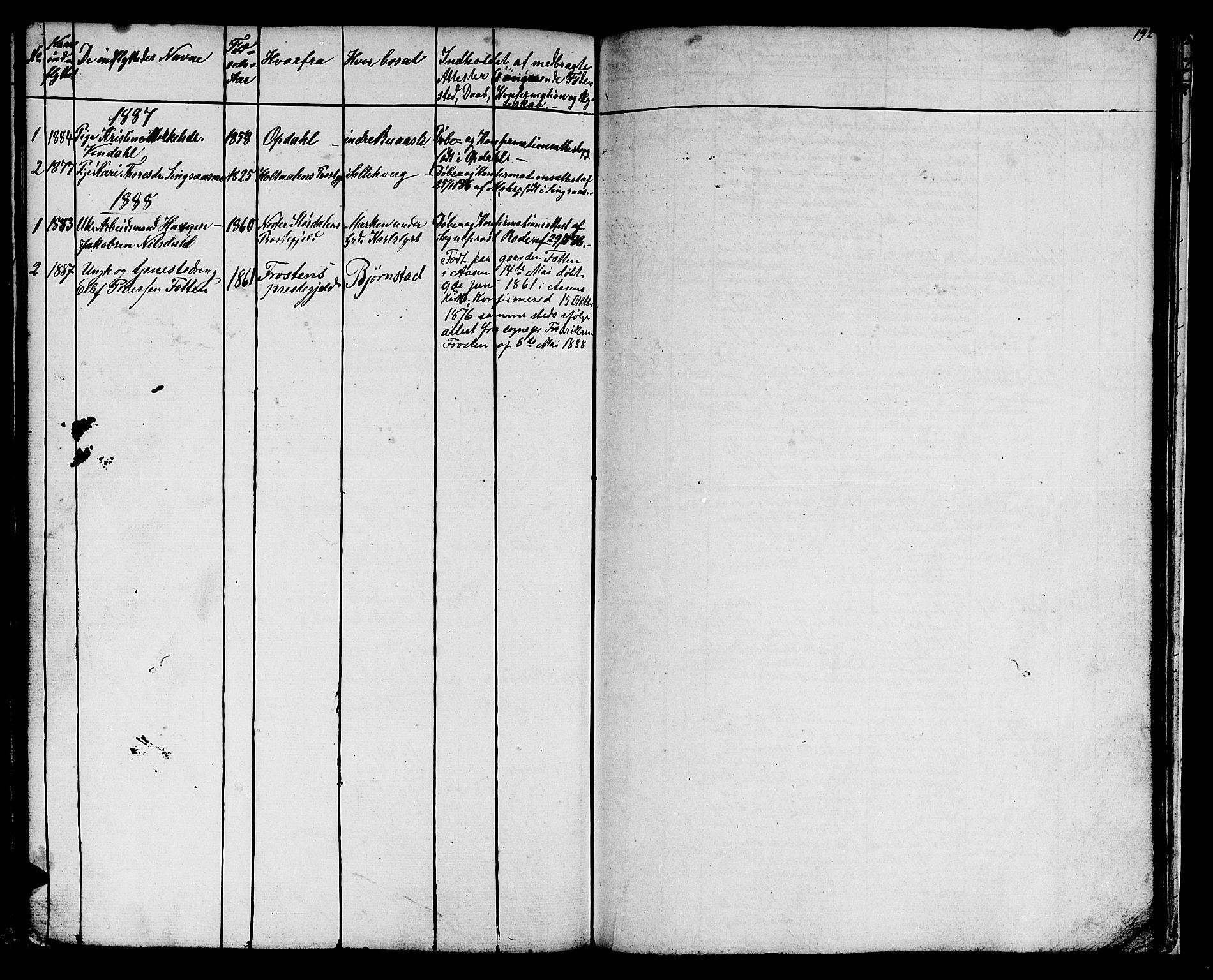 SAT, Ministerialprotokoller, klokkerbøker og fødselsregistre - Sør-Trøndelag, 616/L0422: Klokkerbok nr. 616C05, 1850-1888, s. 192
