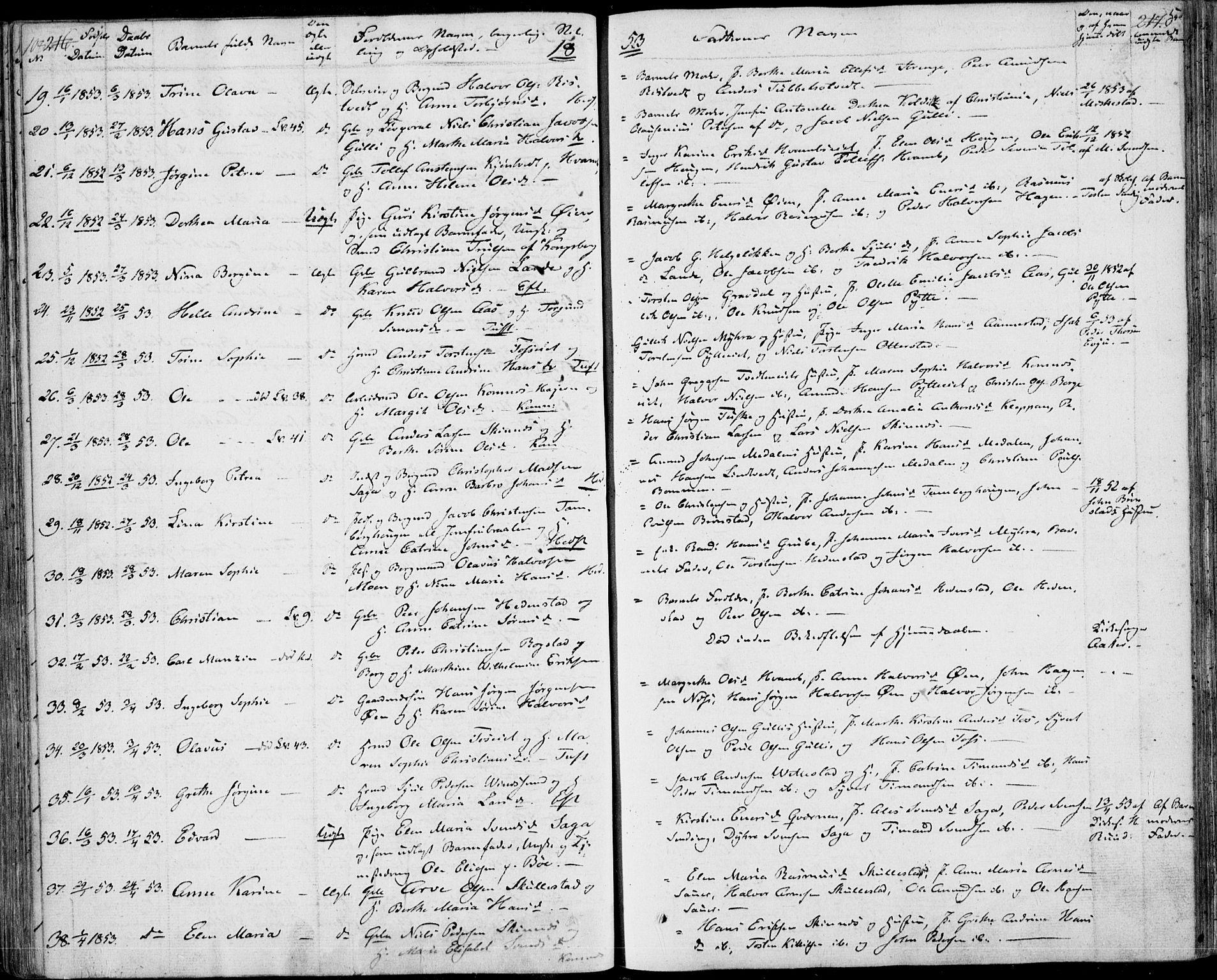 SAKO, Sandsvær kirkebøker, F/Fa/L0005: Ministerialbok nr. I 5, 1840-1856, s. 216-217