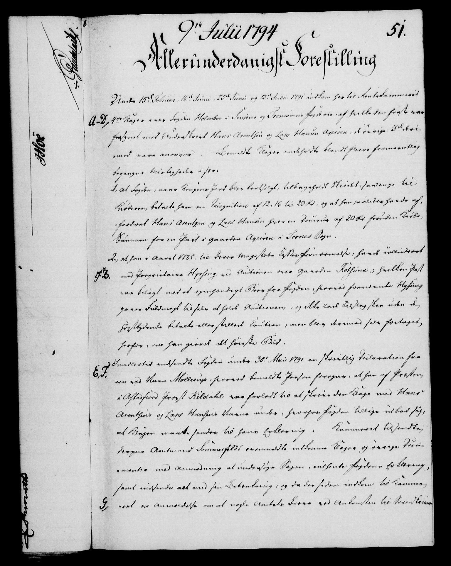 RA, Rentekammeret, Kammerkanselliet, G/Gf/Gfa/L0076: Norsk relasjons- og resolusjonsprotokoll (merket RK 52.76), 1794, s. 233