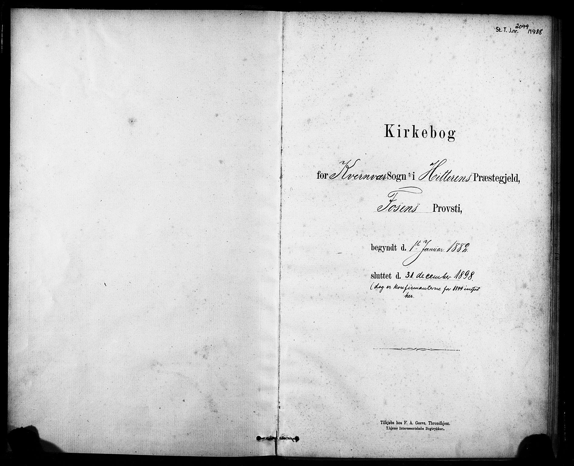 SAT, Ministerialprotokoller, klokkerbøker og fødselsregistre - Sør-Trøndelag, 635/L0551: Ministerialbok nr. 635A01, 1882-1899