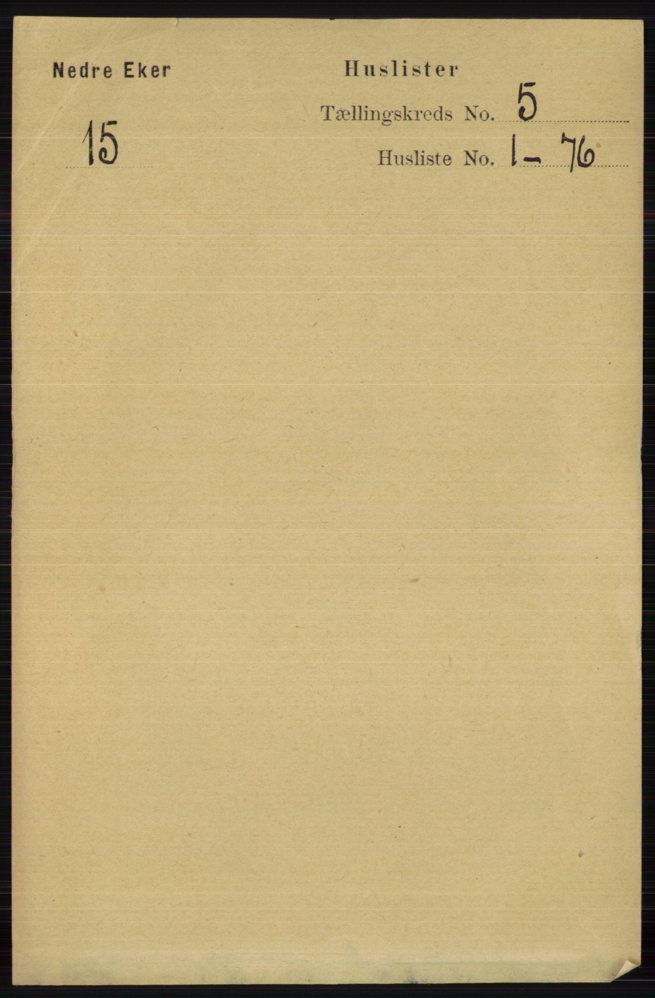 RA, Folketelling 1891 for 0625 Nedre Eiker herred, 1891, s. 2254