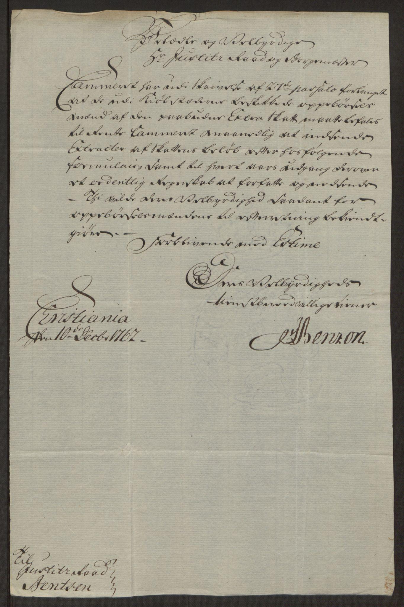 RA, Rentekammeret inntil 1814, Reviderte regnskaper, Byregnskaper, R/Rj/L0198: [J4] Kontribusjonsregnskap, 1762-1768, s. 172