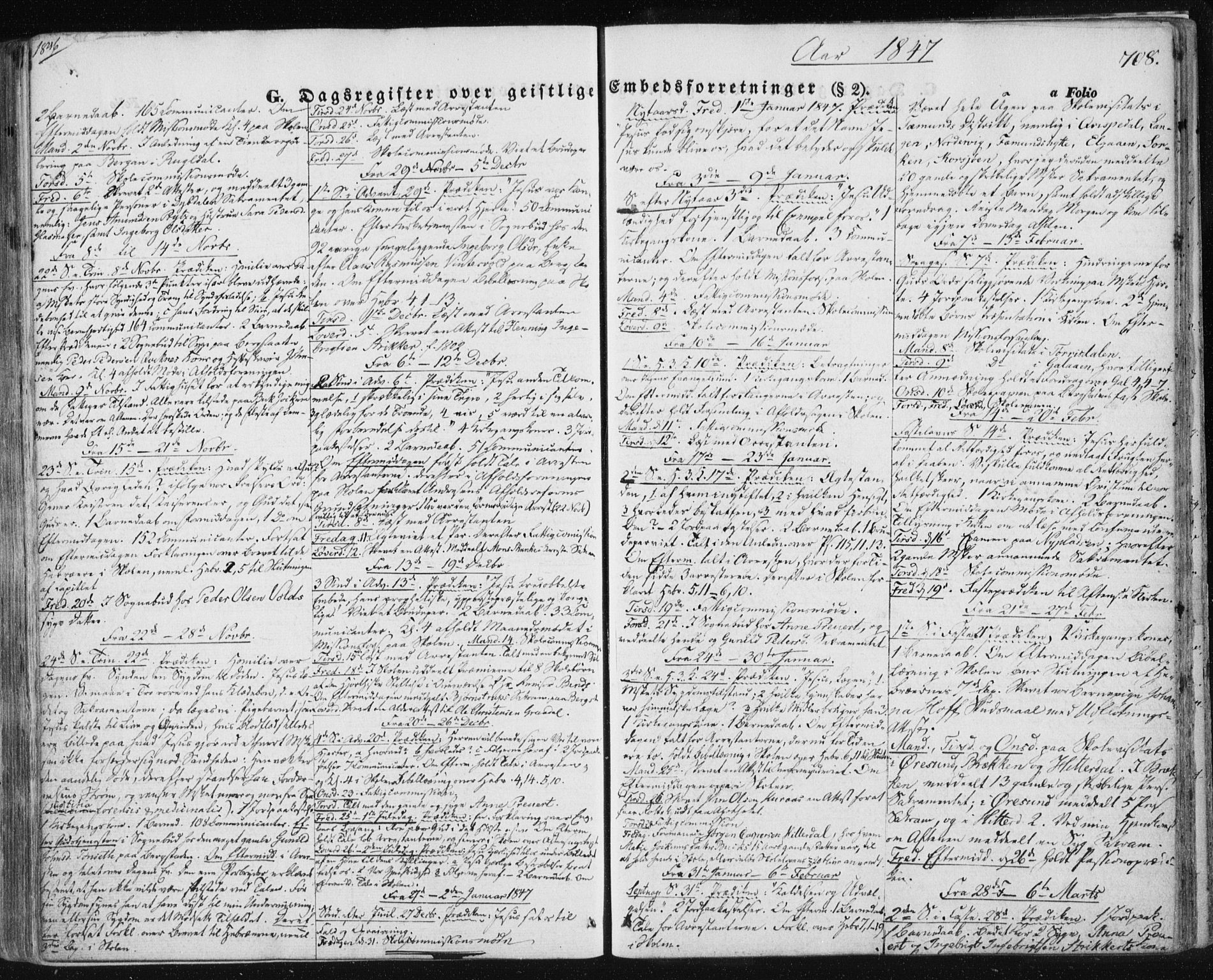 SAT, Ministerialprotokoller, klokkerbøker og fødselsregistre - Sør-Trøndelag, 681/L0931: Ministerialbok nr. 681A09, 1845-1859, s. 708