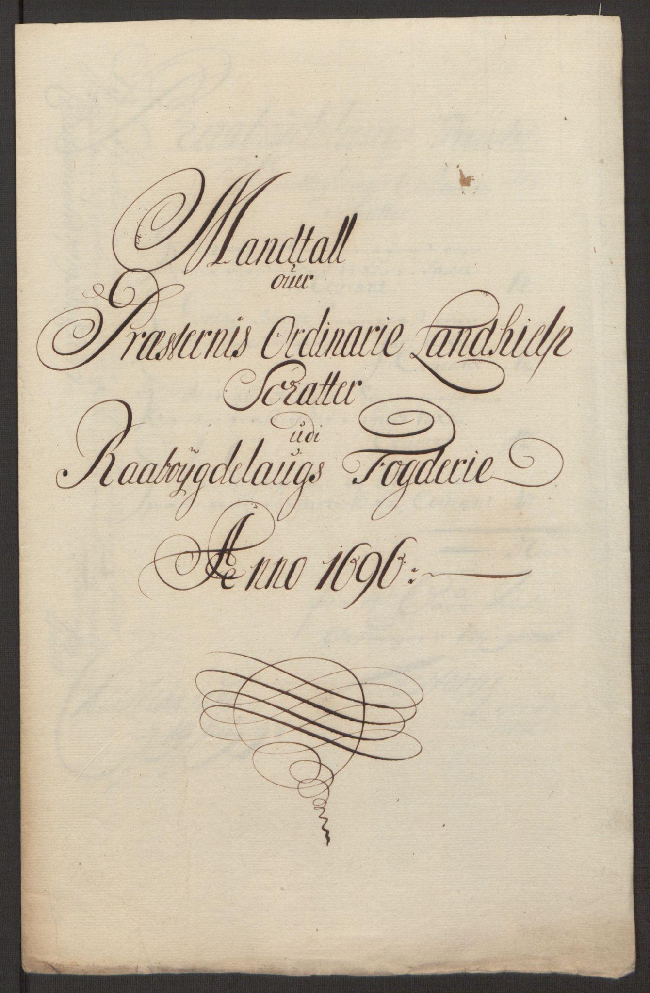 RA, Rentekammeret inntil 1814, Reviderte regnskaper, Fogderegnskap, R40/L2444: Fogderegnskap Råbyggelag, 1693-1696, s. 329