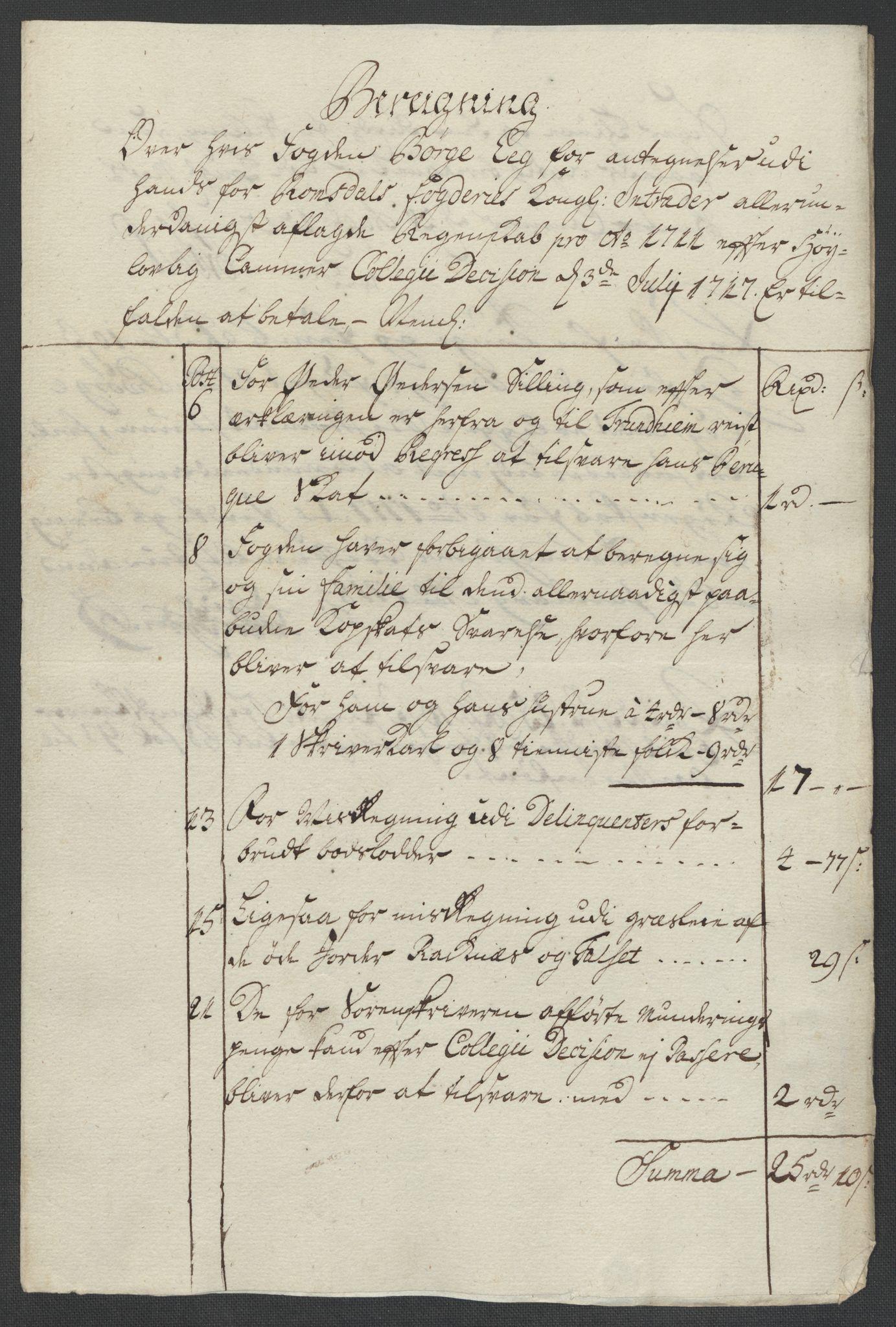 RA, Rentekammeret inntil 1814, Reviderte regnskaper, Fogderegnskap, R55/L3660: Fogderegnskap Romsdal, 1711, s. 480