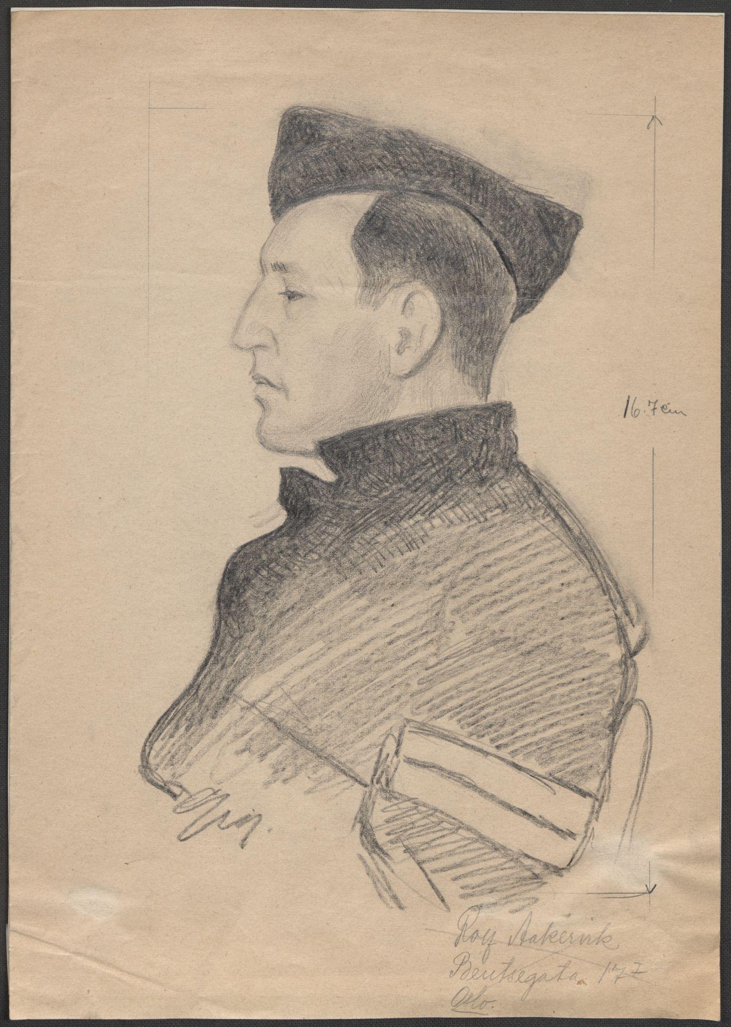 RA, Grøgaard, Joachim, F/L0002: Tegninger og tekster, 1942-1945, s. 120