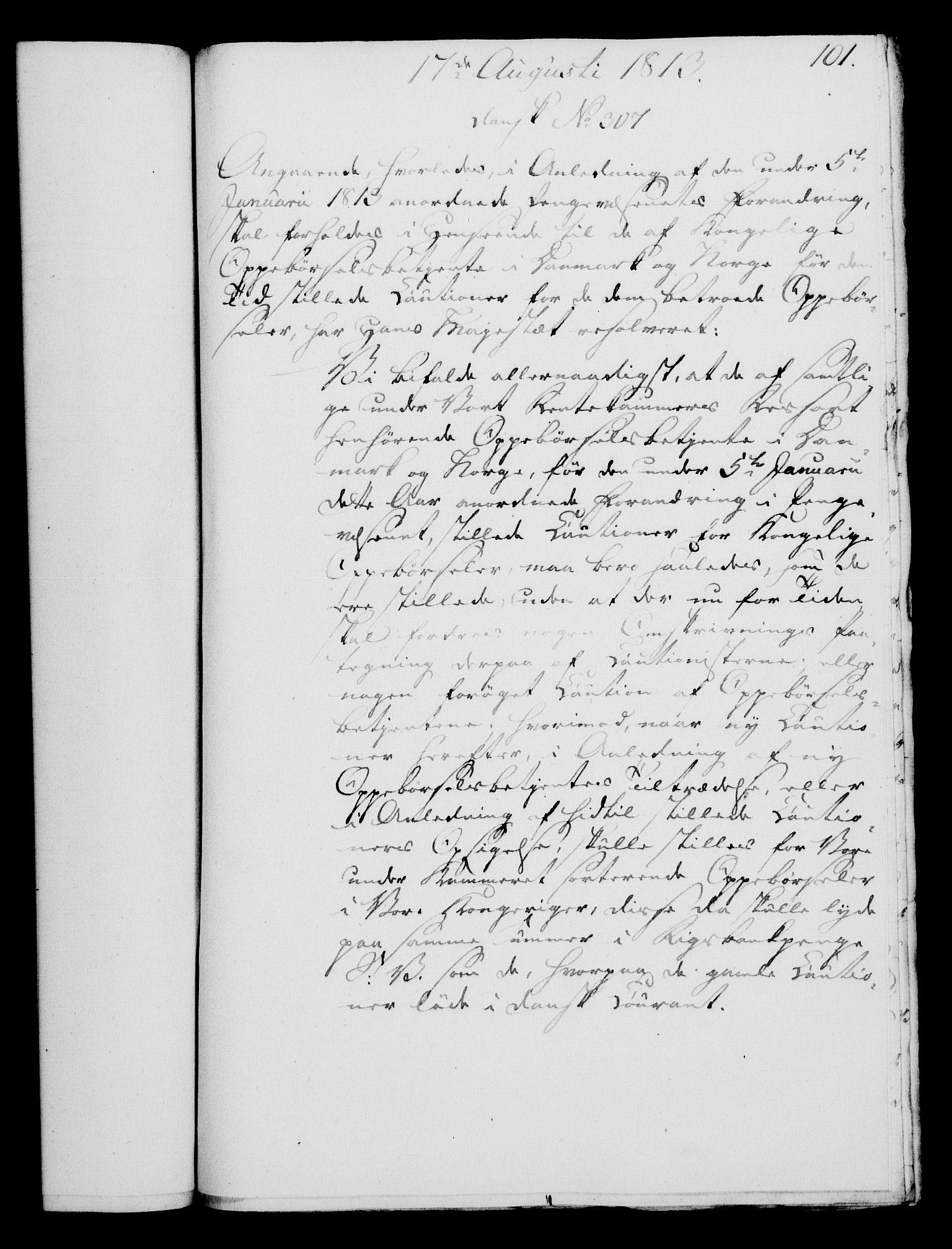 RA, Rentekammeret, Kammerkanselliet, G/Gf/Gfa/L0095: Norsk relasjons- og resolusjonsprotokoll (merket RK 52.95), 1813-1814, s. 433