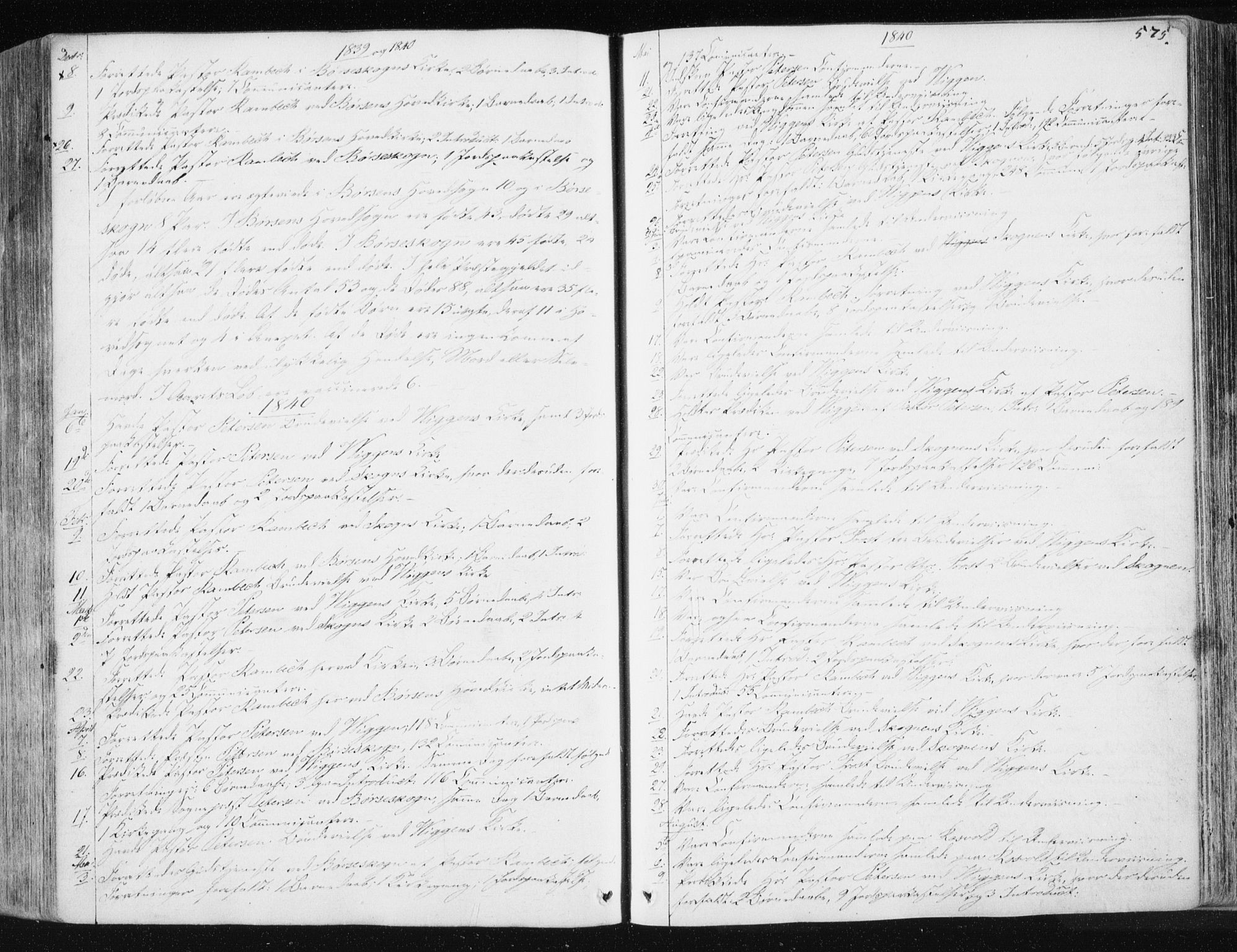 SAT, Ministerialprotokoller, klokkerbøker og fødselsregistre - Sør-Trøndelag, 665/L0771: Ministerialbok nr. 665A06, 1830-1856, s. 575