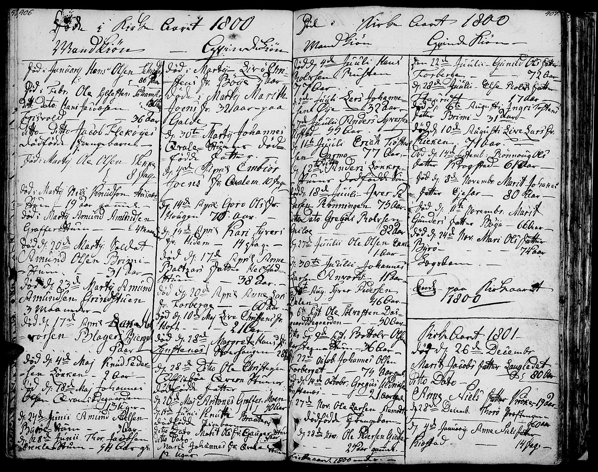 SAH, Lom prestekontor, K/L0002: Ministerialbok nr. 2, 1749-1801, s. 406-407