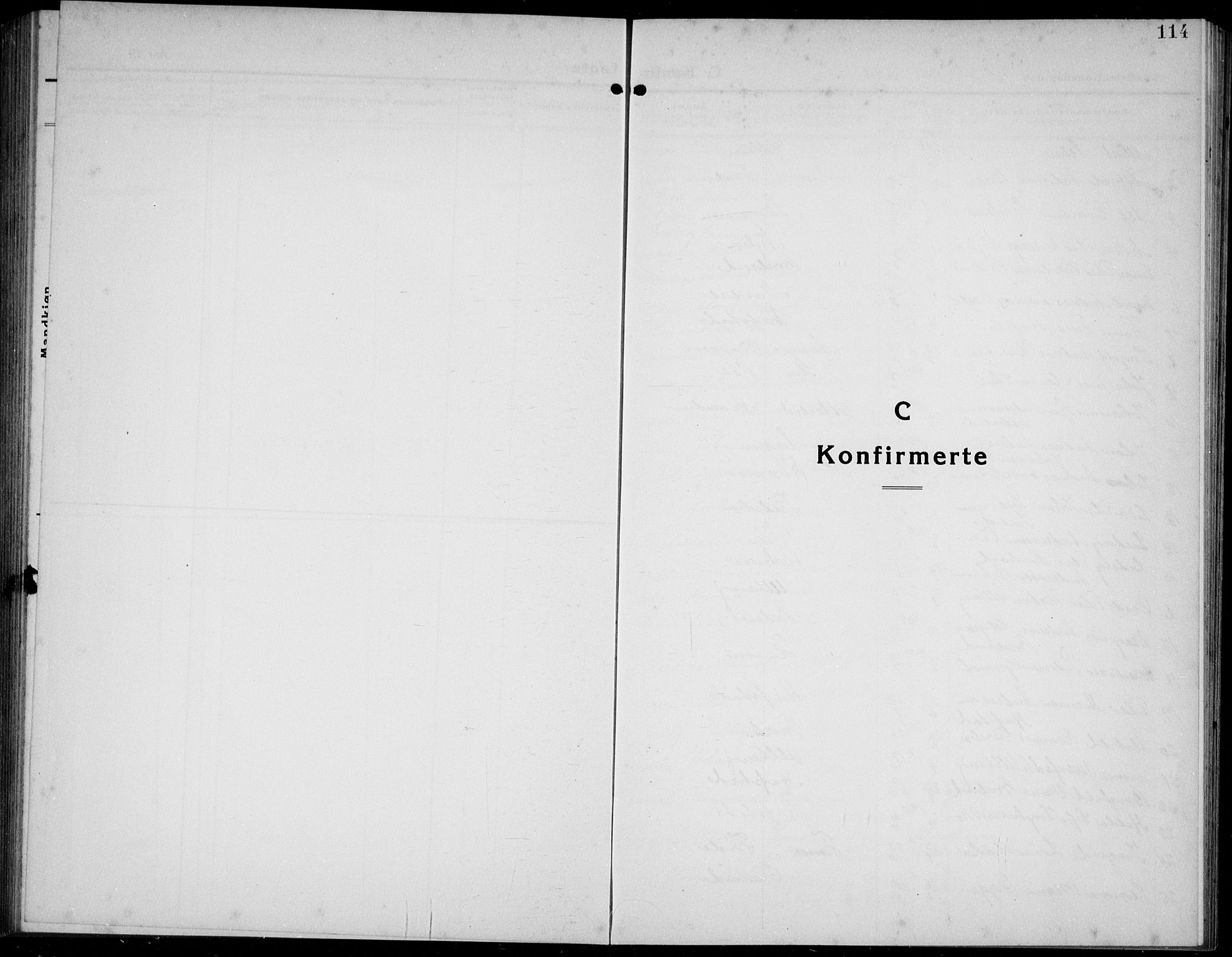 SAB, Førde sokneprestembete, H/Hab: Klokkerbok nr. A 4, 1924-1941, s. 114