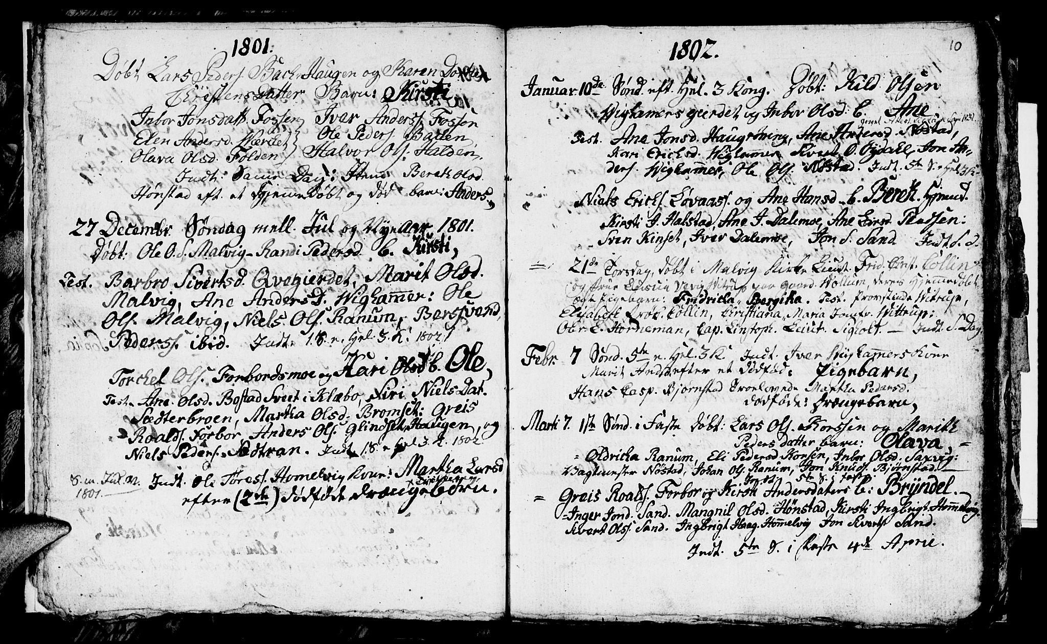 SAT, Ministerialprotokoller, klokkerbøker og fødselsregistre - Sør-Trøndelag, 616/L0419: Klokkerbok nr. 616C02, 1797-1816, s. 10