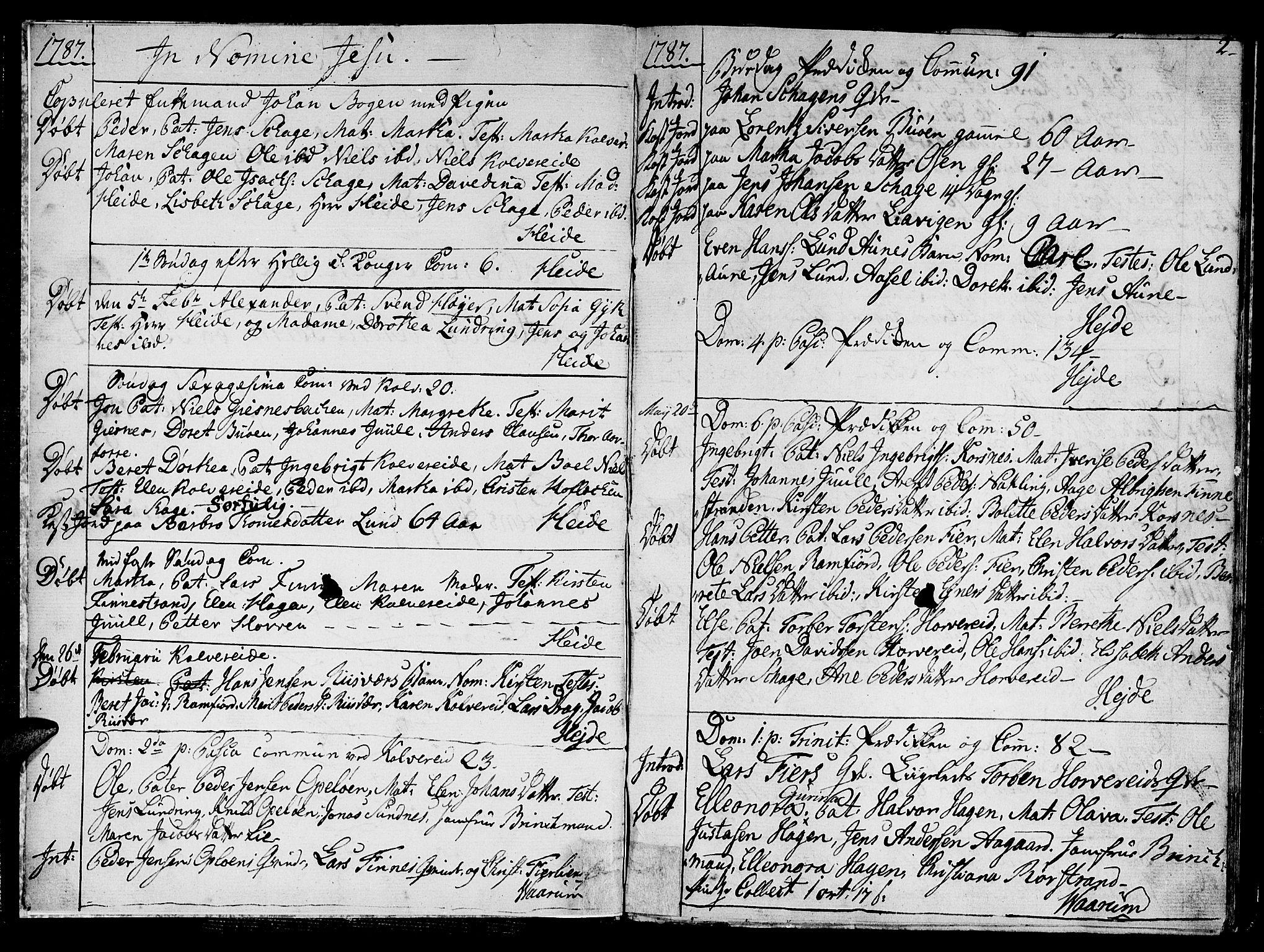 SAT, Ministerialprotokoller, klokkerbøker og fødselsregistre - Nord-Trøndelag, 780/L0633: Ministerialbok nr. 780A02 /1, 1787-1814, s. 2
