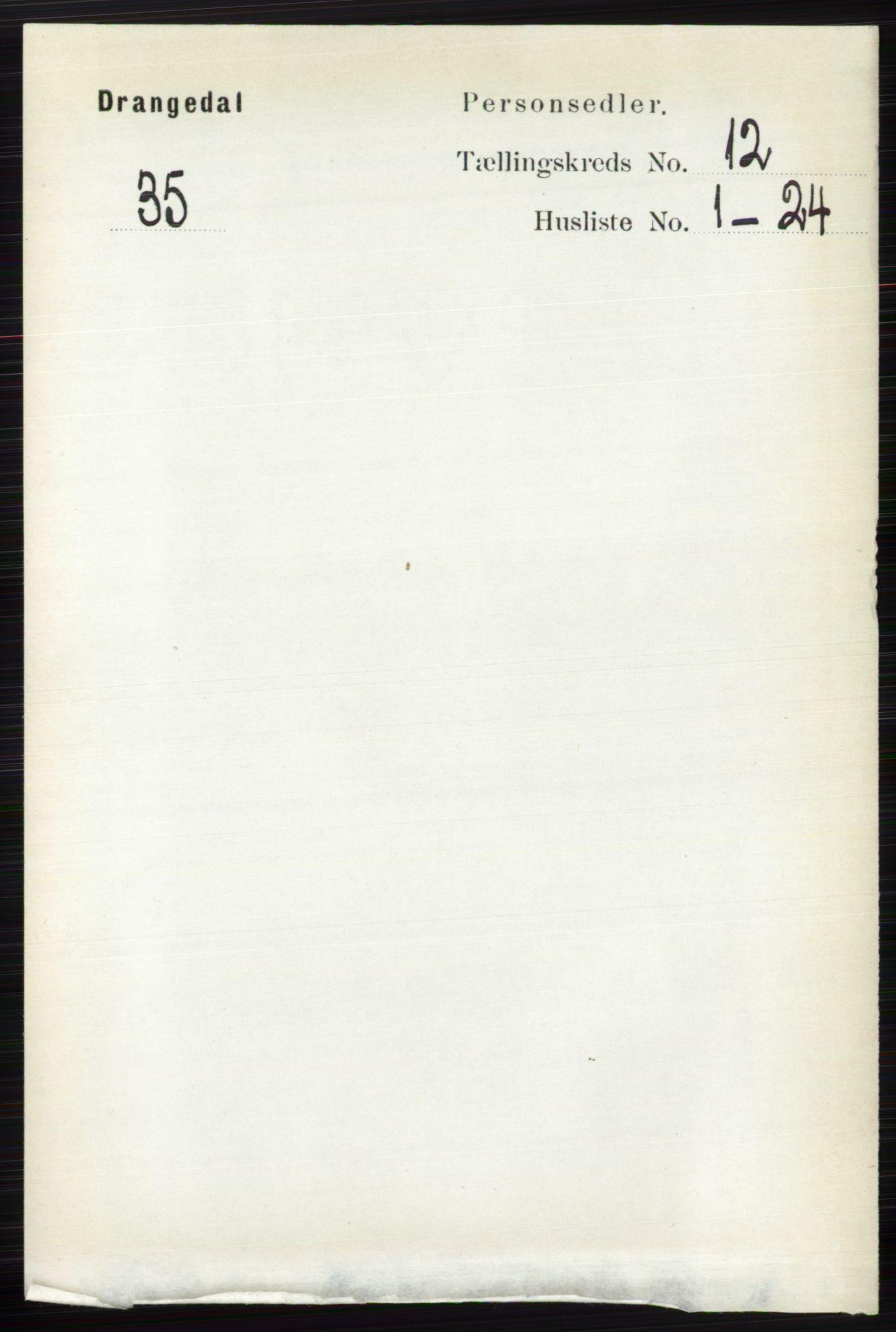 RA, Folketelling 1891 for 0817 Drangedal herred, 1891, s. 4360