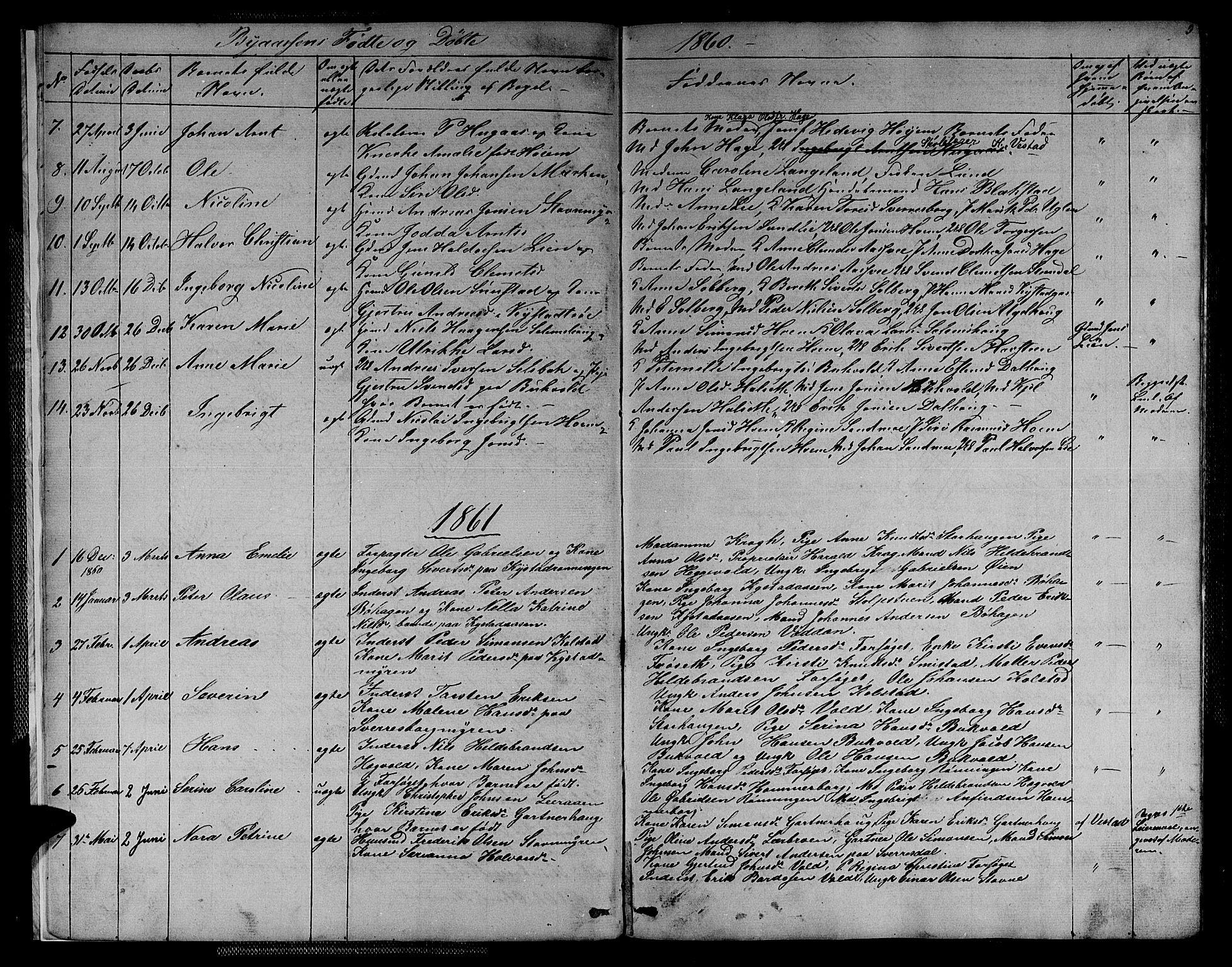 SAT, Ministerialprotokoller, klokkerbøker og fødselsregistre - Sør-Trøndelag, 611/L0353: Klokkerbok nr. 611C01, 1854-1881, s. 5