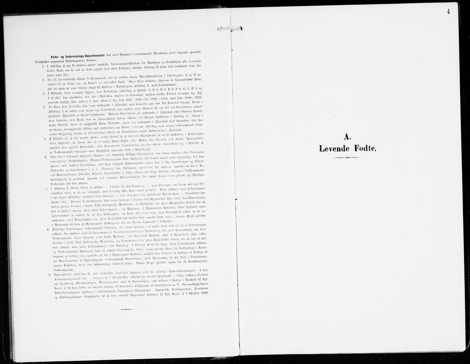 SAB, Hyllestad Sokneprestembete, Ministerialbok nr. D 2, 1905-1919, s. 4