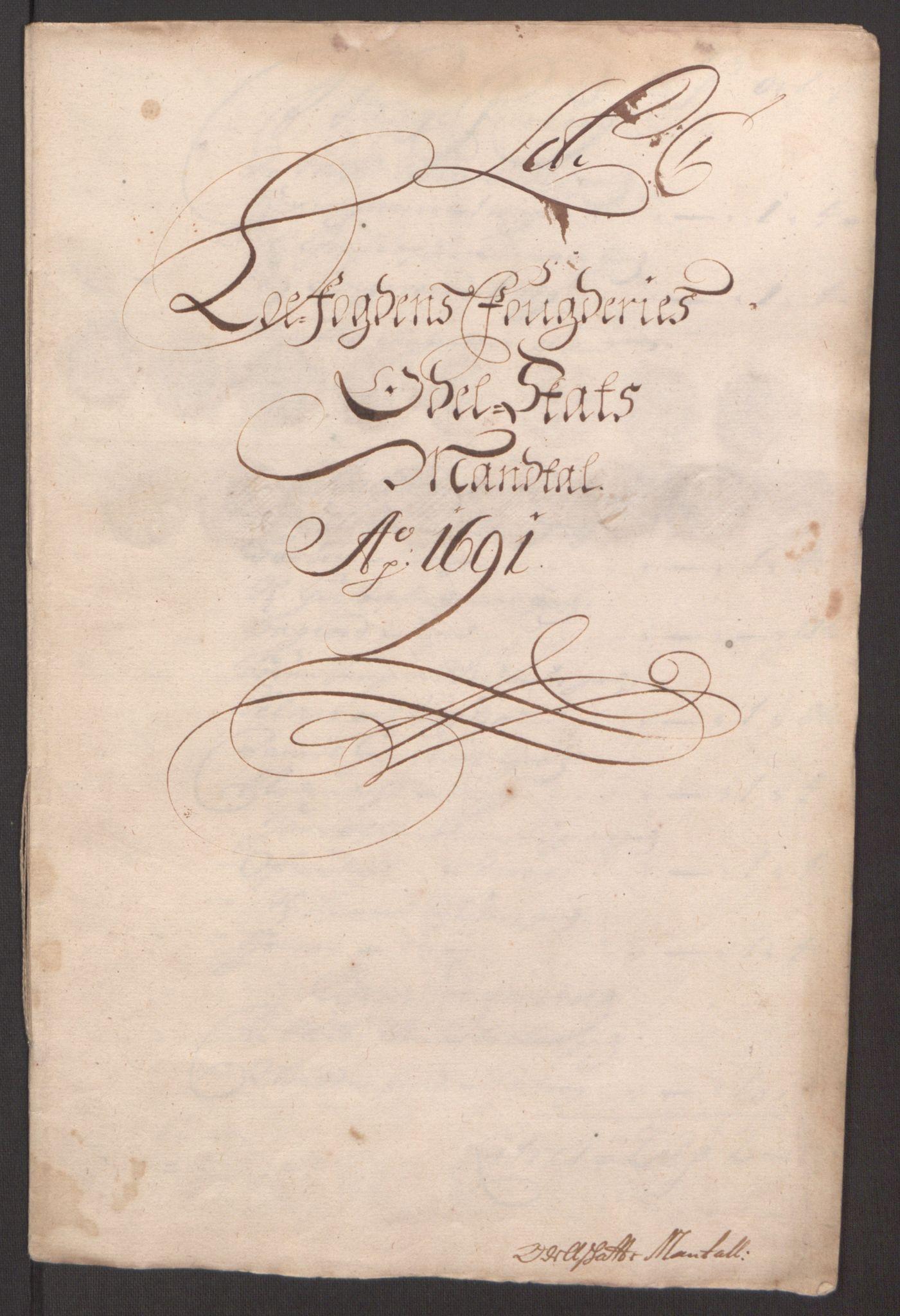 RA, Rentekammeret inntil 1814, Reviderte regnskaper, Fogderegnskap, R67/L4675: Fogderegnskap Vesterålen, Andenes og Lofoten, 1691-1693, s. 32