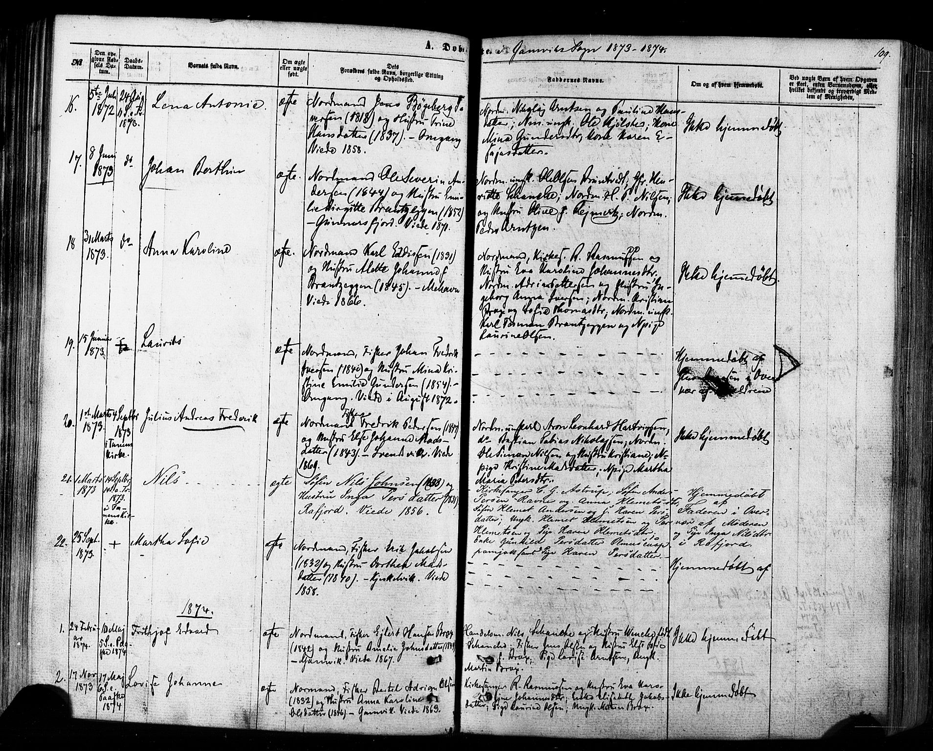 SATØ, Tana sokneprestkontor, H/Ha/L0002kirke: Ministerialbok nr. 2 /2, 1862-1877, s. 109
