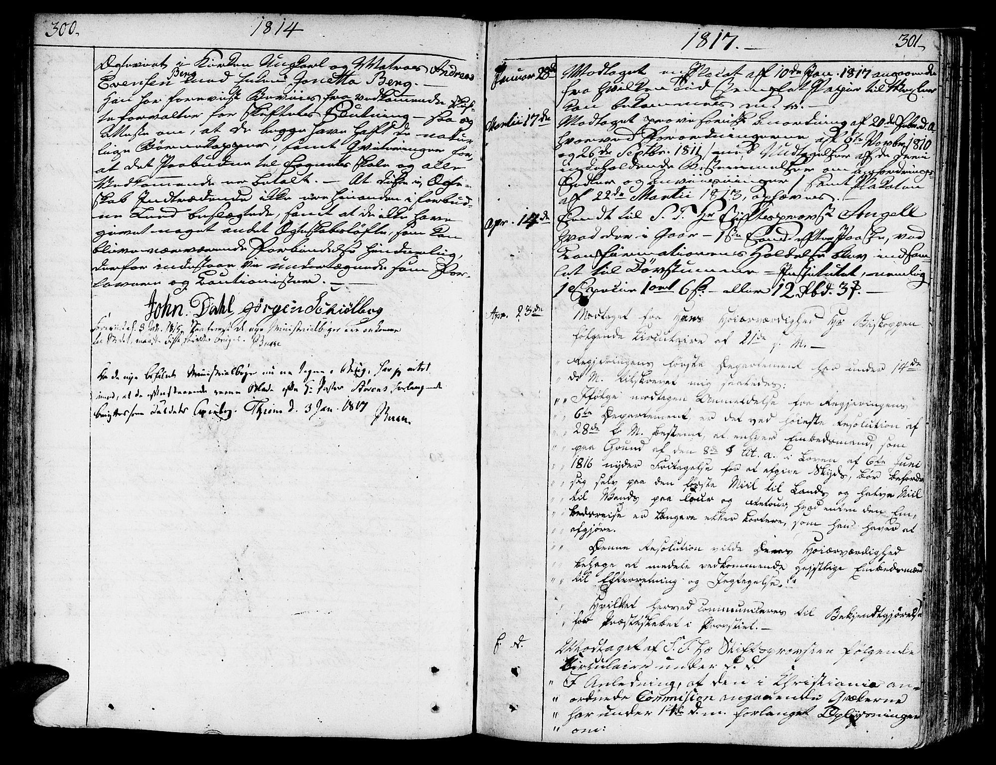 SAT, Ministerialprotokoller, klokkerbøker og fødselsregistre - Sør-Trøndelag, 602/L0105: Ministerialbok nr. 602A03, 1774-1814, s. 300-301