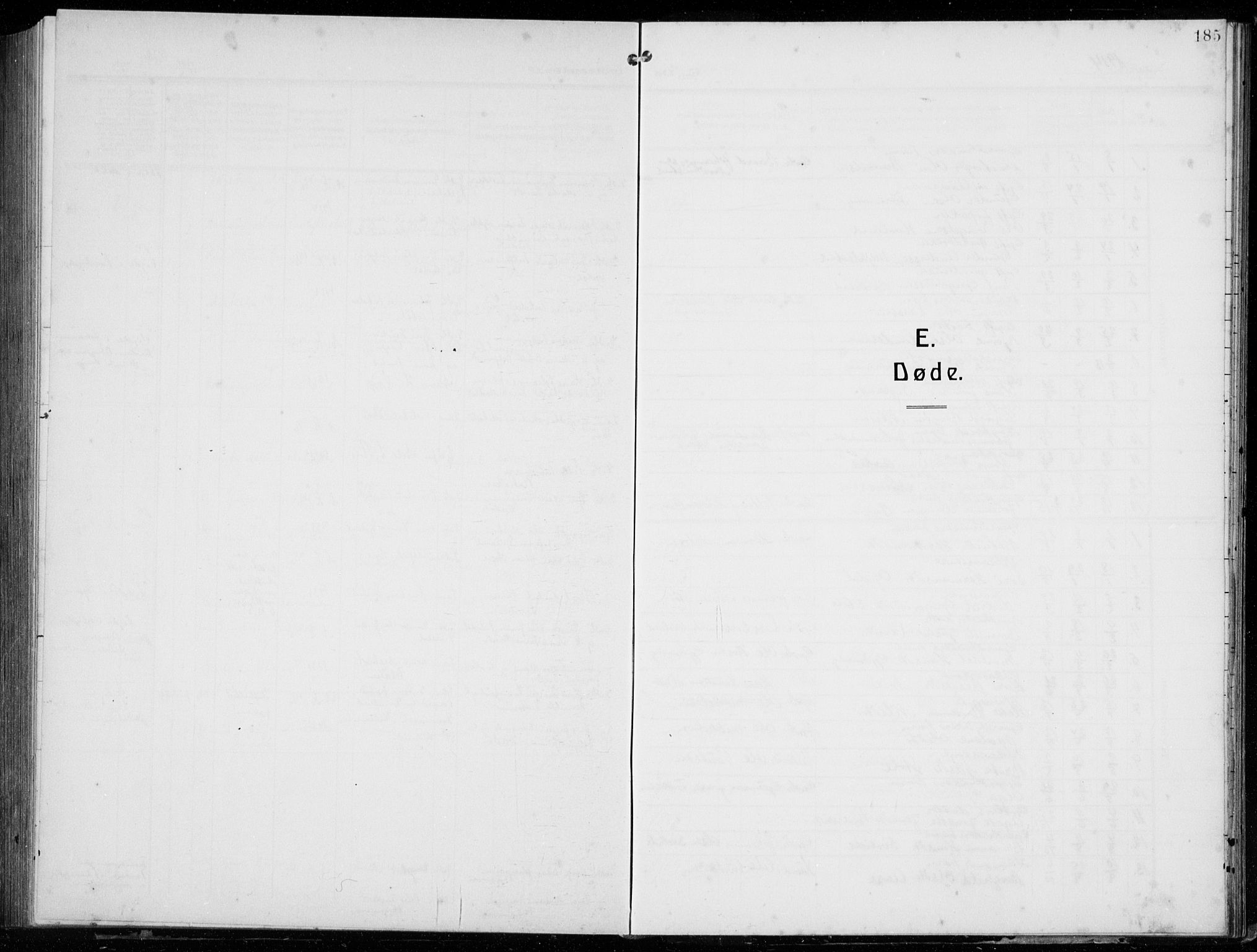 SAB, Tysnes Sokneprestembete, H/Hab: Klokkerbok nr. E  4, 1912-1936, s. 185