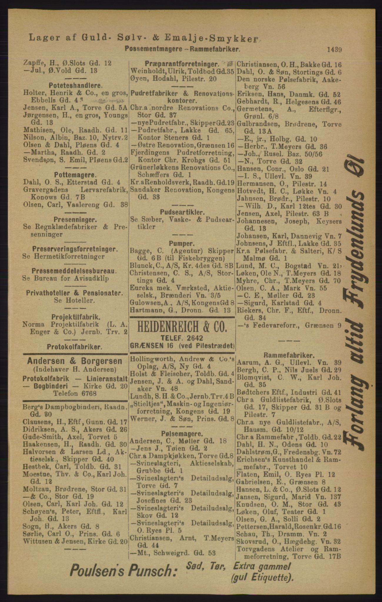 RA, Kristiania adressebok (publikasjon)*, 1906, s. 1439