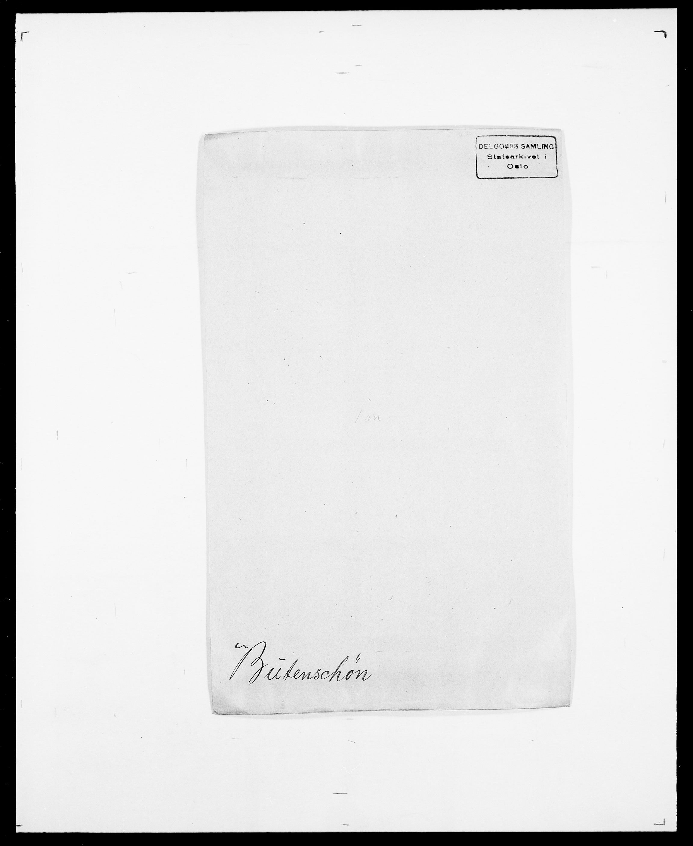 SAO, Delgobe, Charles Antoine - samling, D/Da/L0007: Buaas - Caphengst, s. 485