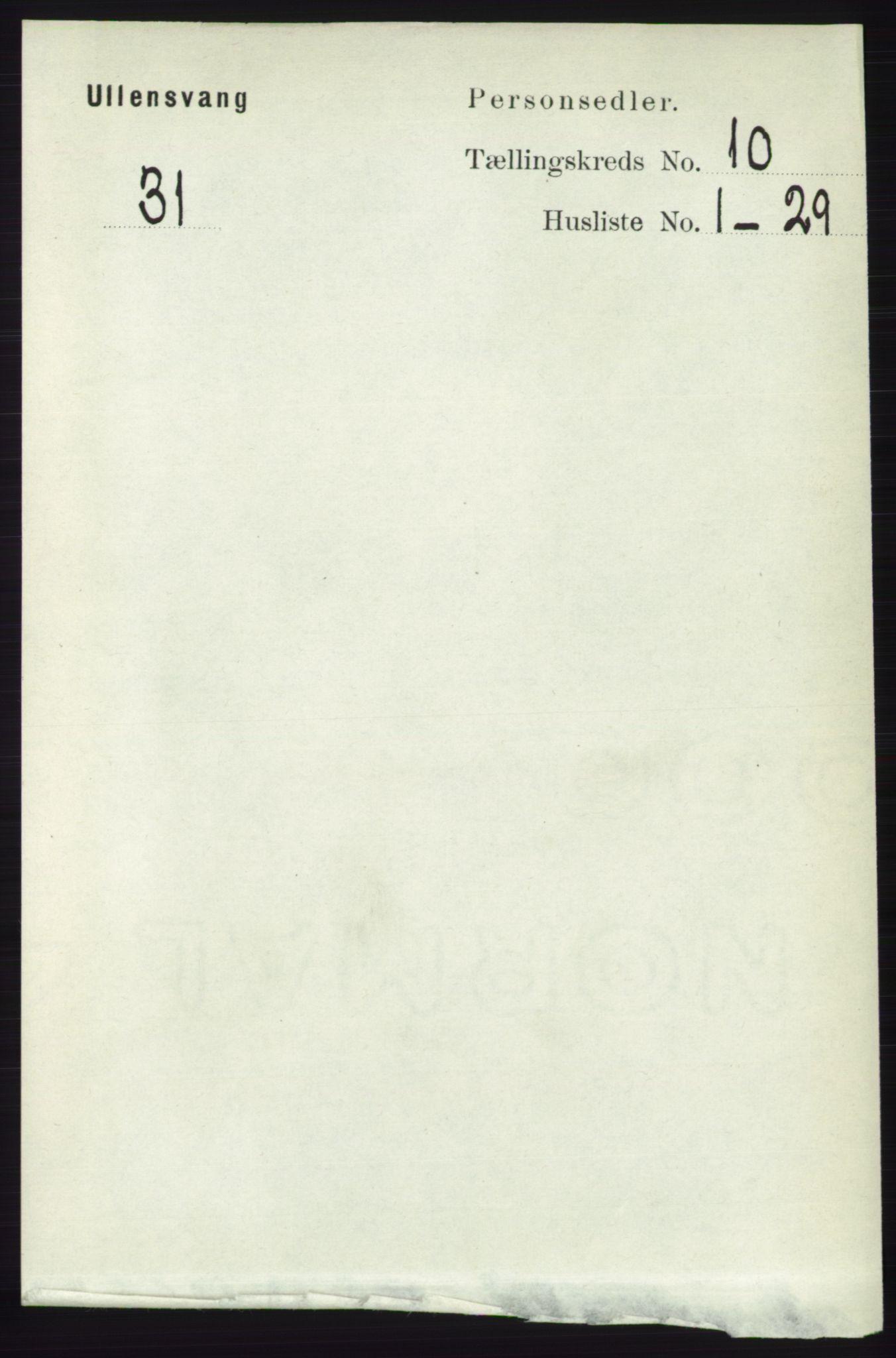 RA, Folketelling 1891 for 1230 Ullensvang herred, 1891, s. 3748