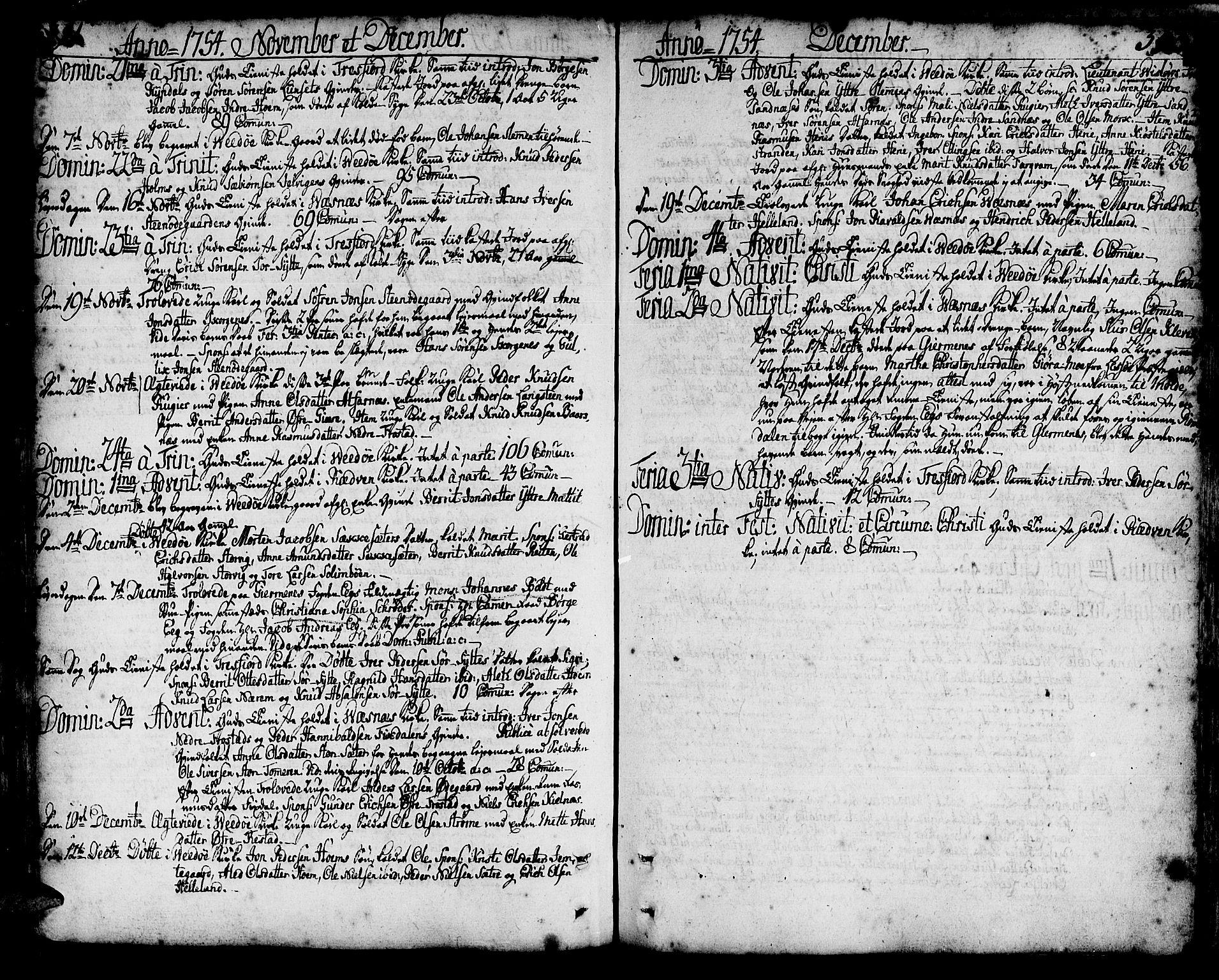 SAT, Ministerialprotokoller, klokkerbøker og fødselsregistre - Møre og Romsdal, 547/L0599: Ministerialbok nr. 547A01, 1721-1764, s. 391-392