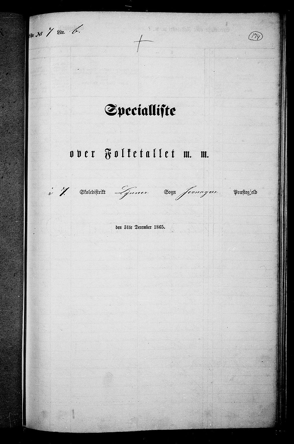 RA, Folketelling 1865 for 0532P Jevnaker prestegjeld, 1865, s. 160