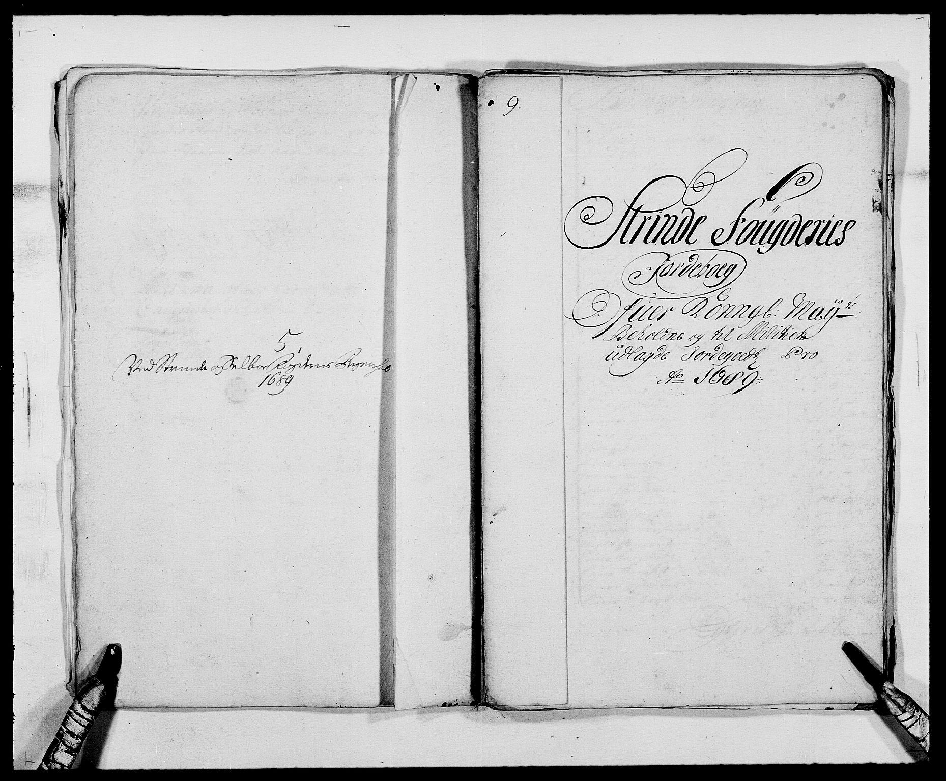 RA, Rentekammeret inntil 1814, Reviderte regnskaper, Fogderegnskap, R61/L4102: Fogderegnskap Strinda og Selbu, 1689-1690, s. 40