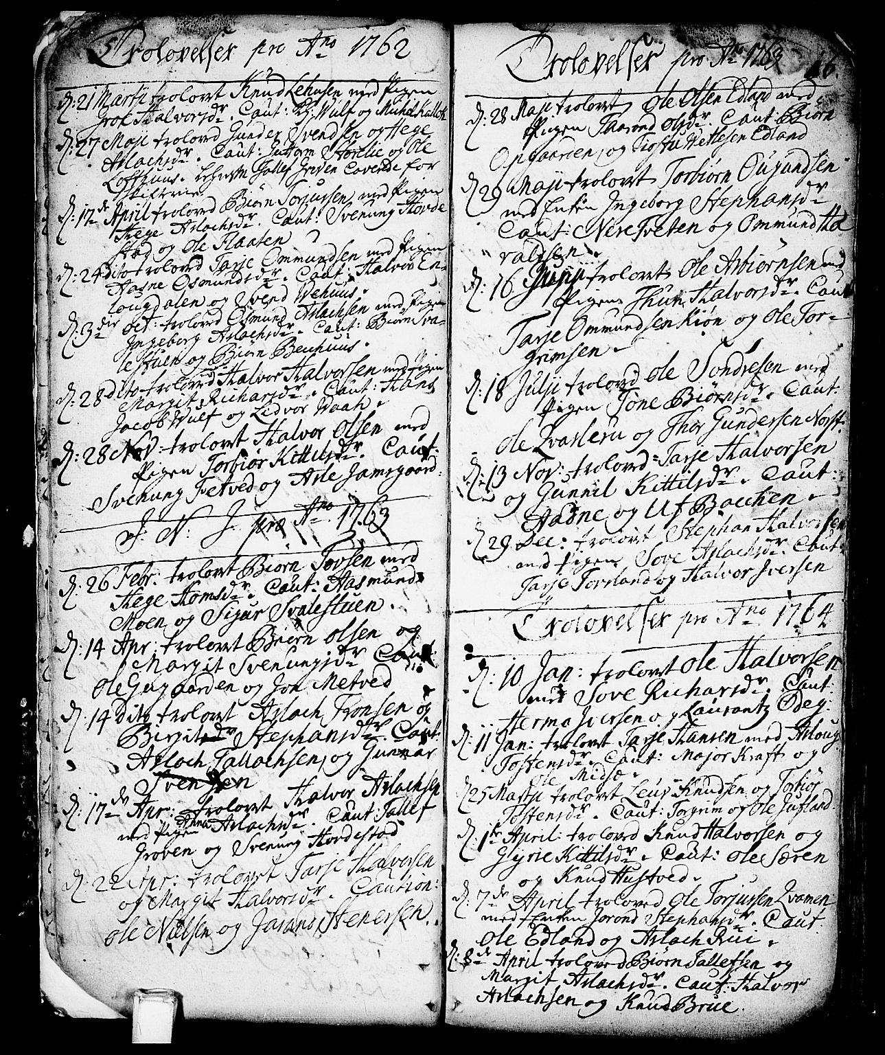 SAKO, Vinje kirkebøker, F/Fa/L0001: Ministerialbok nr. I 1, 1717-1766, s. 16
