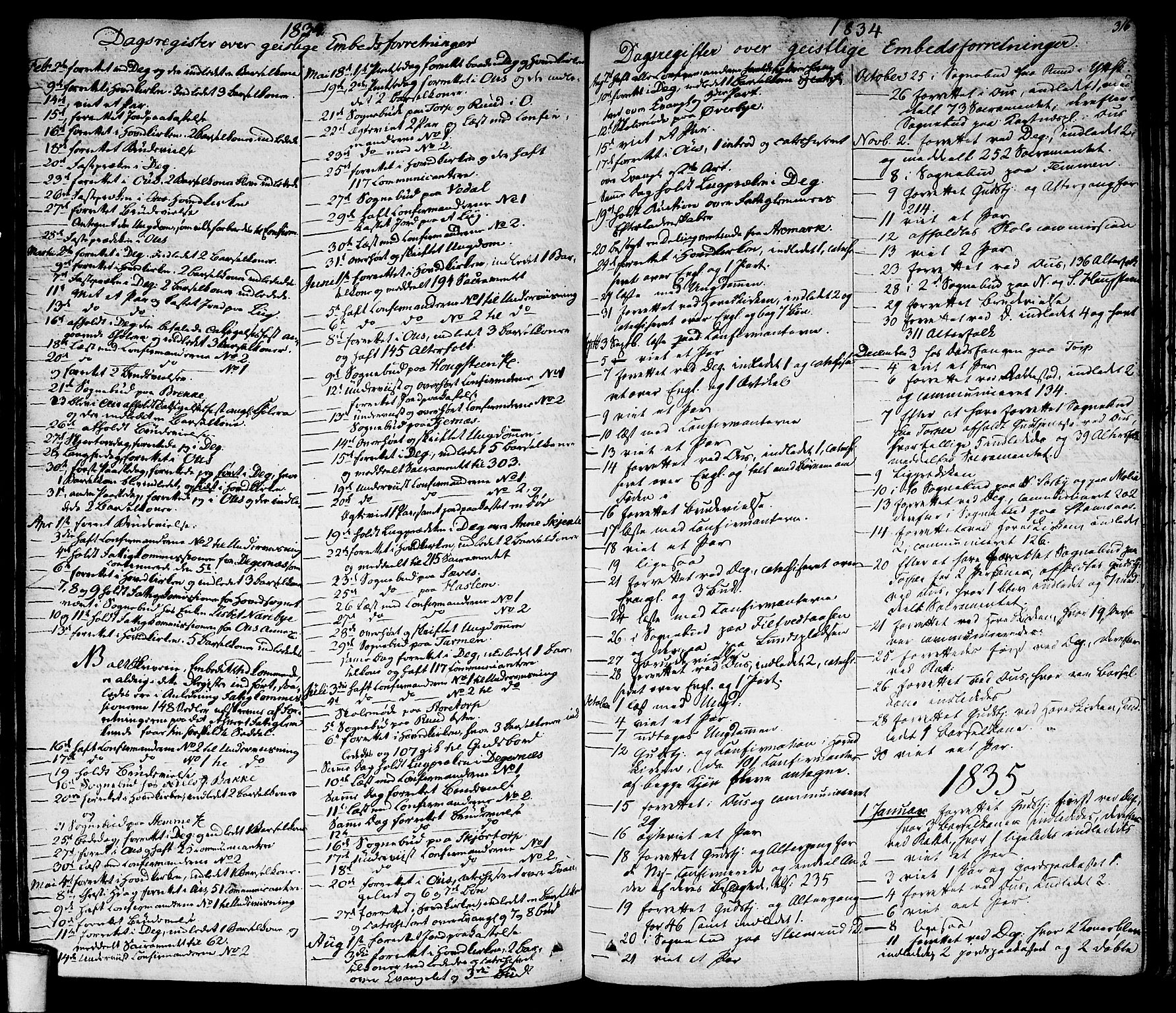 SAO, Rakkestad prestekontor Kirkebøker, F/Fa/L0007: Ministerialbok nr. I 7, 1825-1841, s. 316