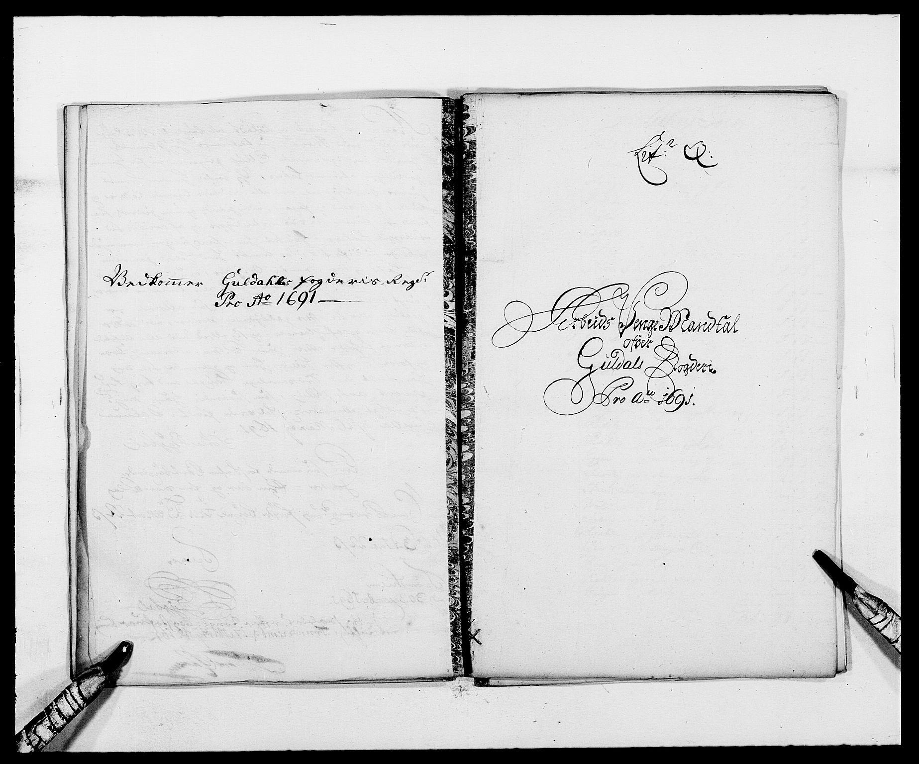 RA, Rentekammeret inntil 1814, Reviderte regnskaper, Fogderegnskap, R59/L3941: Fogderegnskap Gauldal, 1691, s. 149