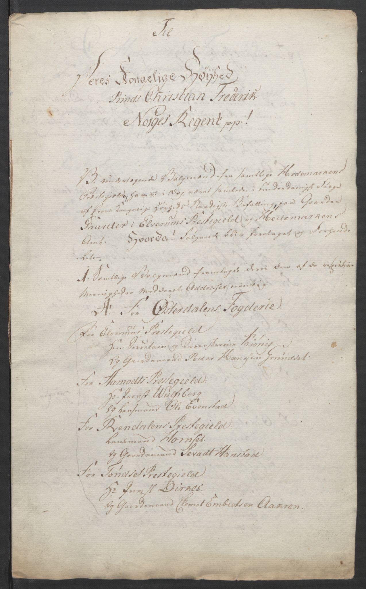 RA, Statsrådssekretariatet, D/Db/L0007: Fullmakter for Eidsvollsrepresentantene i 1814. , 1814, s. 215