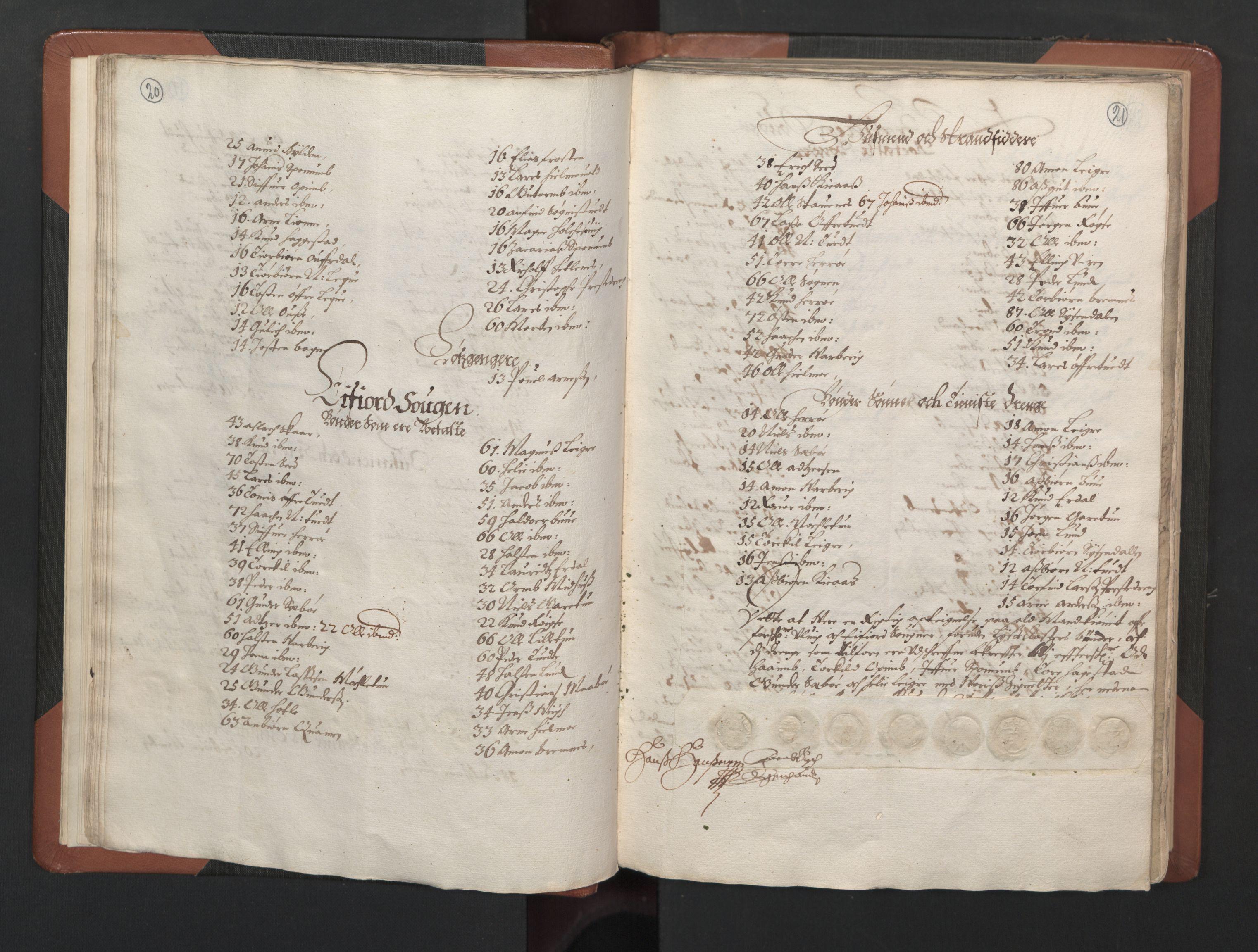 RA, Fogdenes og sorenskrivernes manntall 1664-1666, nr. 14: Hardanger len, Ytre Sogn fogderi og Indre Sogn fogderi, 1664-1665, s. 20-21