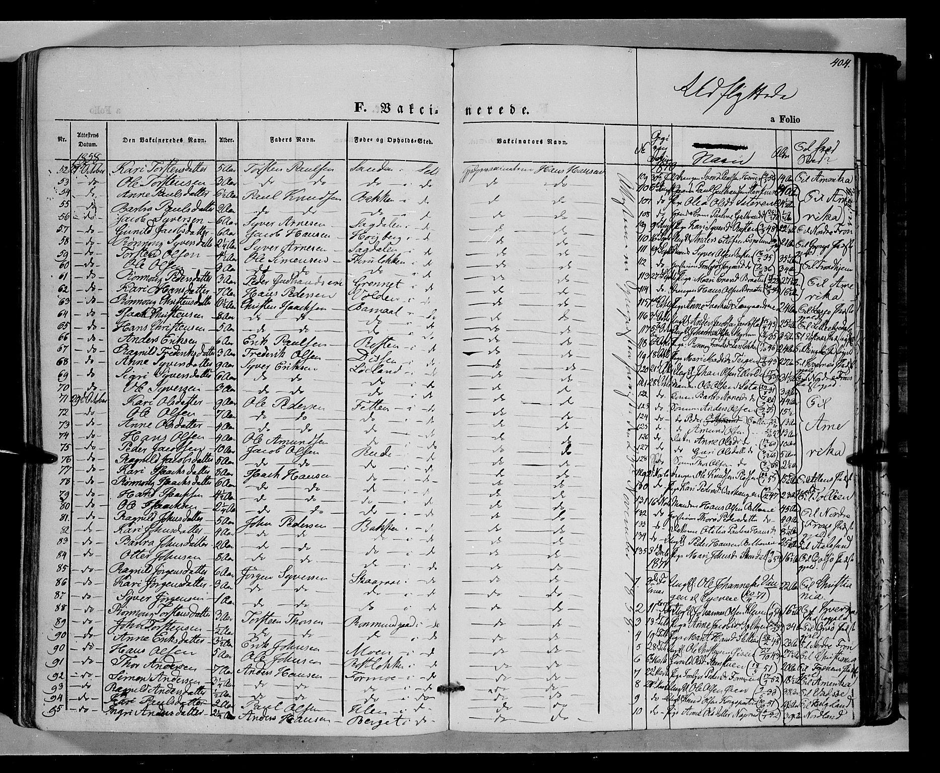SAH, Vågå prestekontor, Ministerialbok nr. 6 /1, 1856-1872, s. 404