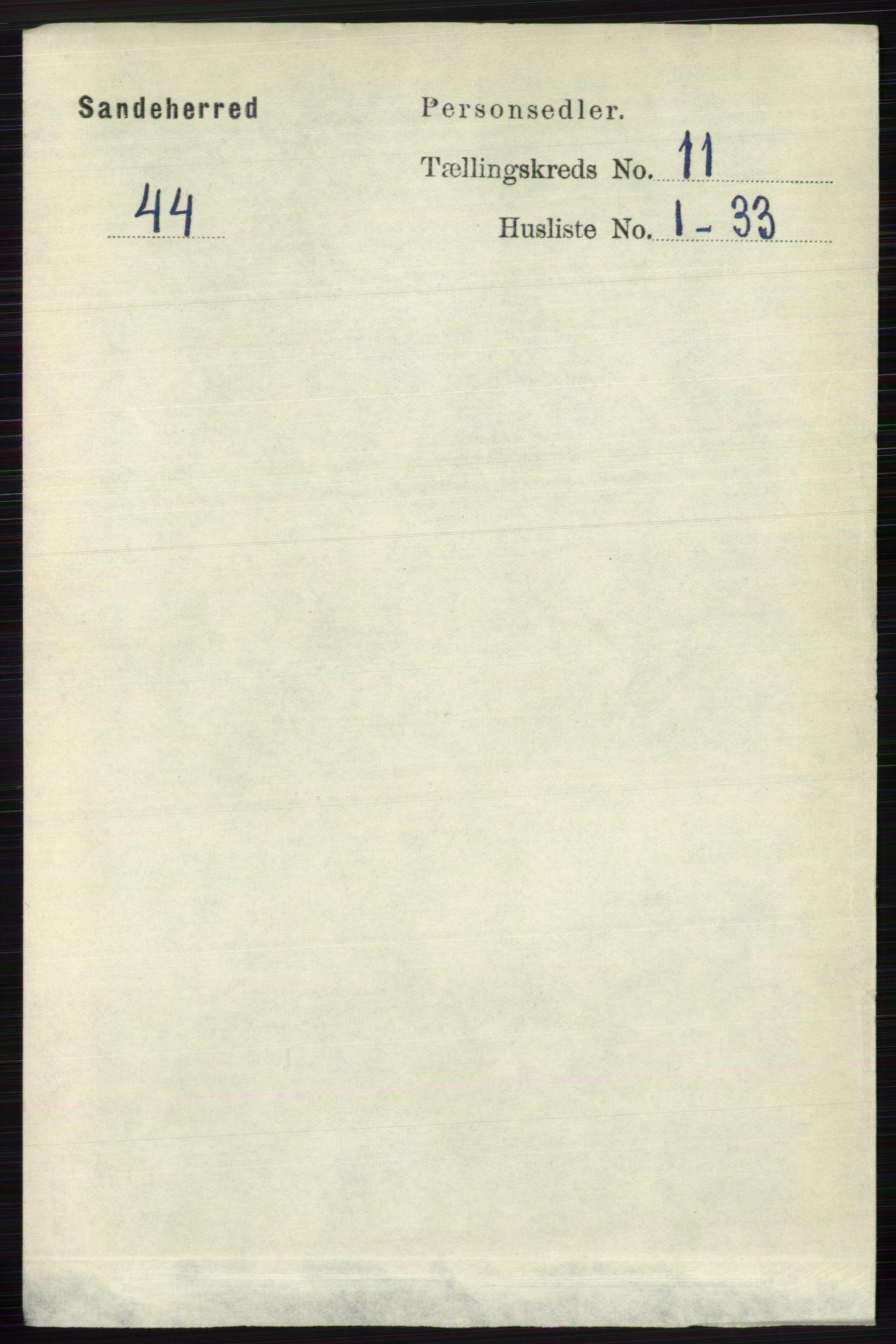 RA, Folketelling 1891 for 0724 Sandeherred herred, 1891, s. 6716