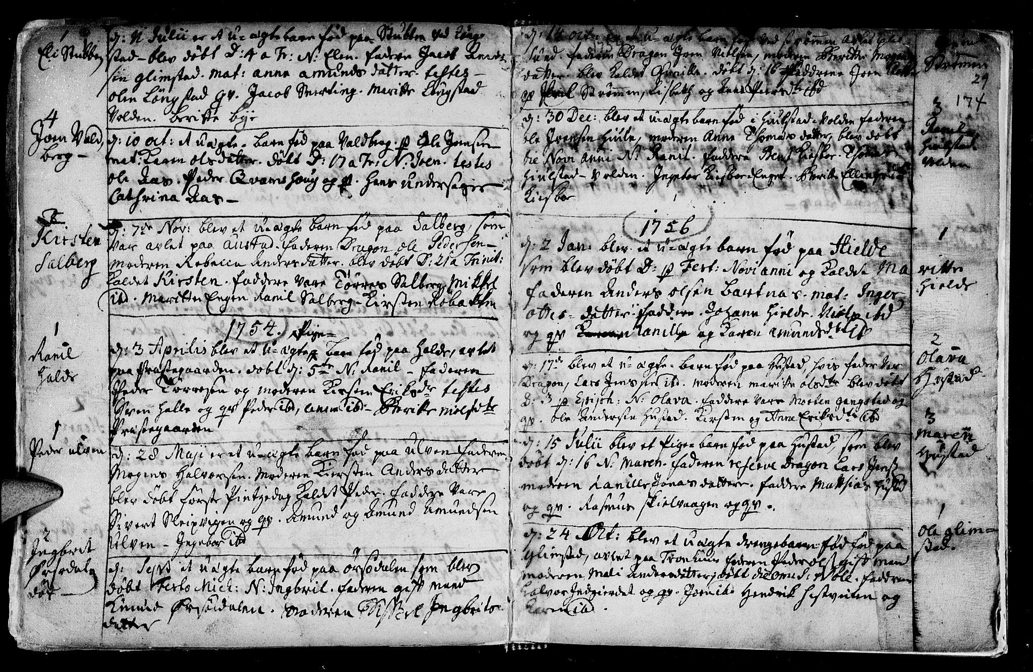 SAT, Ministerialprotokoller, klokkerbøker og fødselsregistre - Nord-Trøndelag, 730/L0272: Ministerialbok nr. 730A01, 1733-1764, s. 174