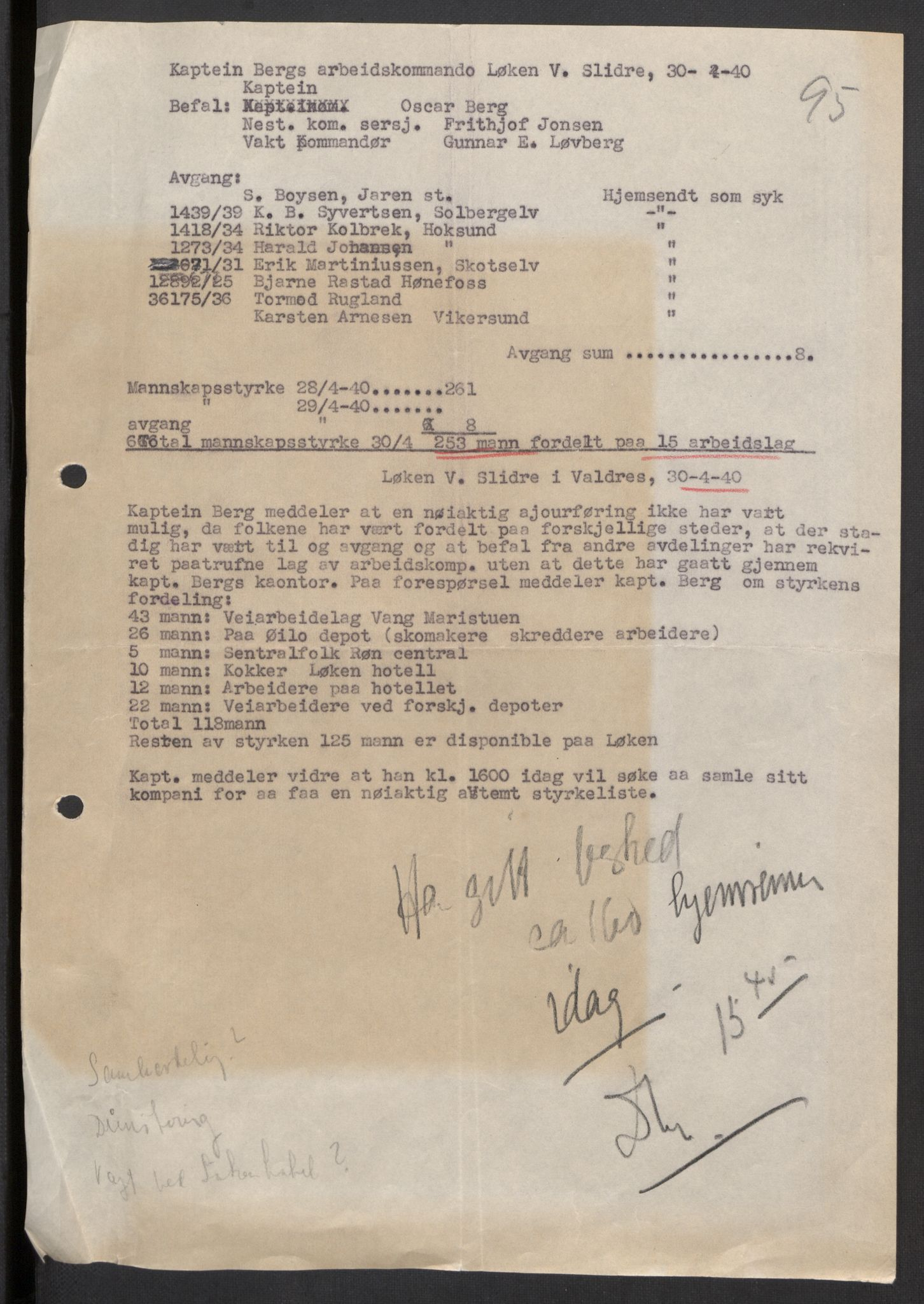 RA, Forsvaret, Forsvarets krigshistoriske avdeling, Y/Yb/L0104: II-C-11-430  -  4. Divisjon., 1940, s. 143