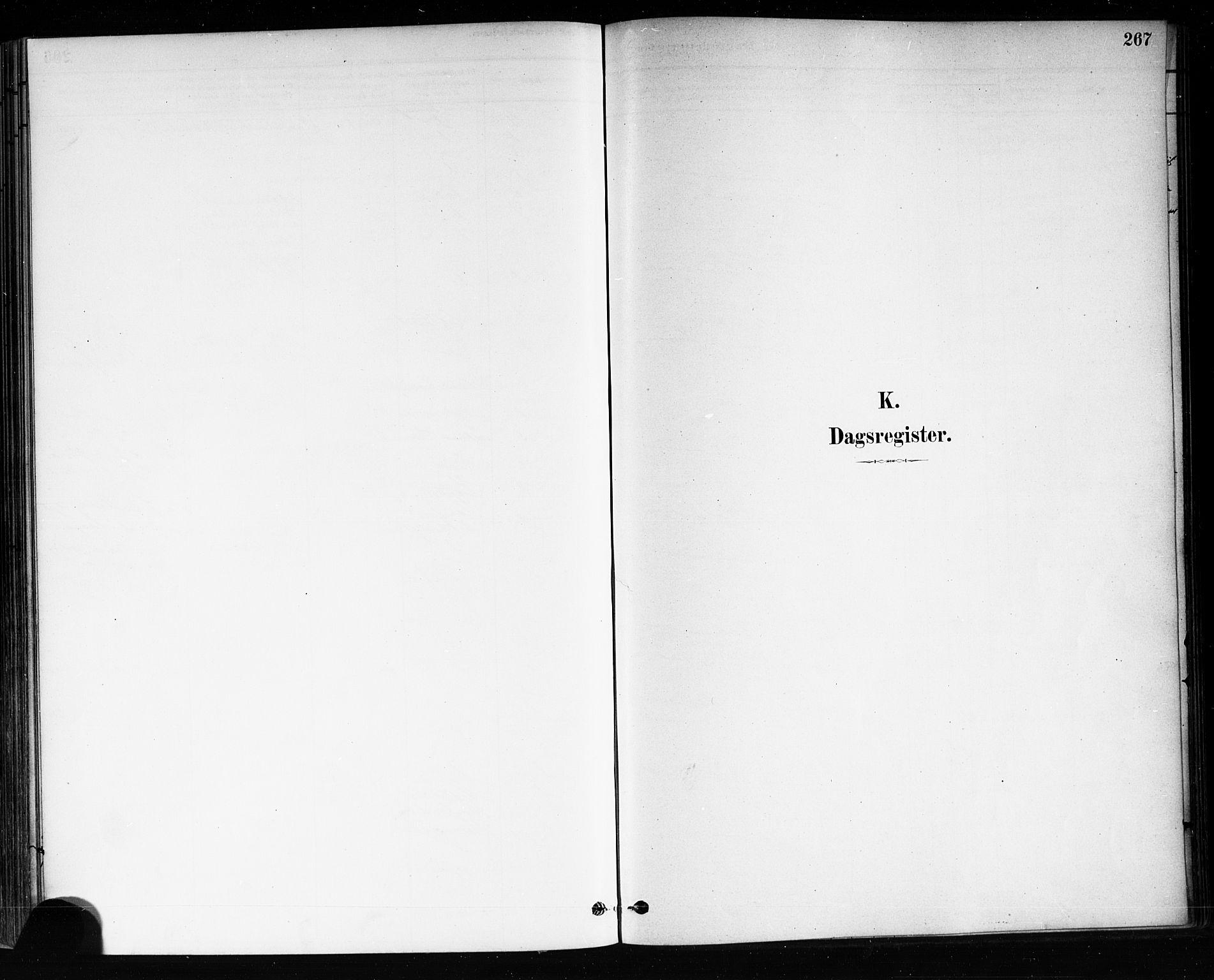 SAKO, Brevik kirkebøker, F/Fa/L0007: Ministerialbok nr. 7, 1882-1900, s. 267