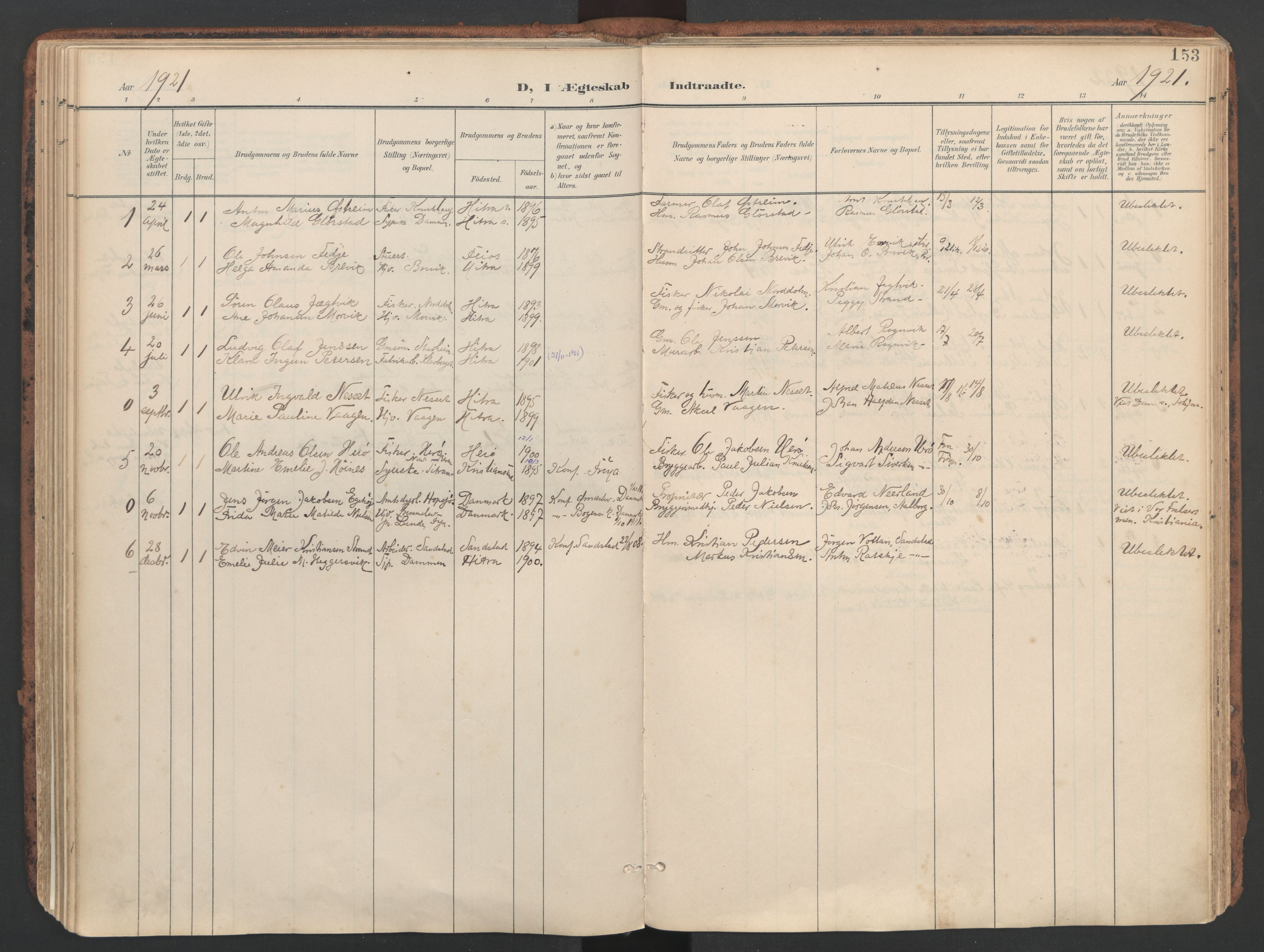 SAT, Ministerialprotokoller, klokkerbøker og fødselsregistre - Sør-Trøndelag, 634/L0537: Ministerialbok nr. 634A13, 1896-1922, s. 153