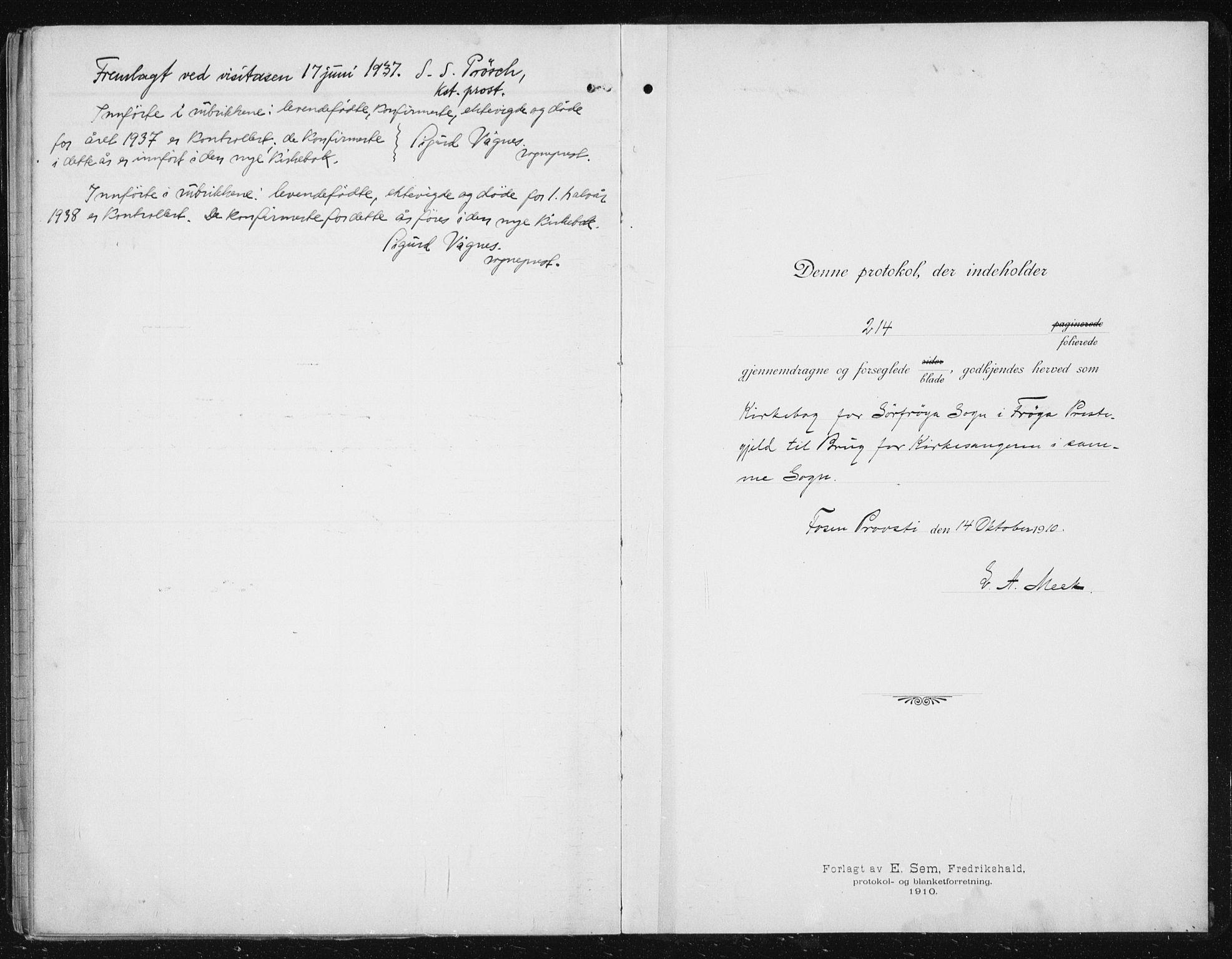 SAT, Ministerialprotokoller, klokkerbøker og fødselsregistre - Sør-Trøndelag, 641/L0599: Klokkerbok nr. 641C03, 1910-1938
