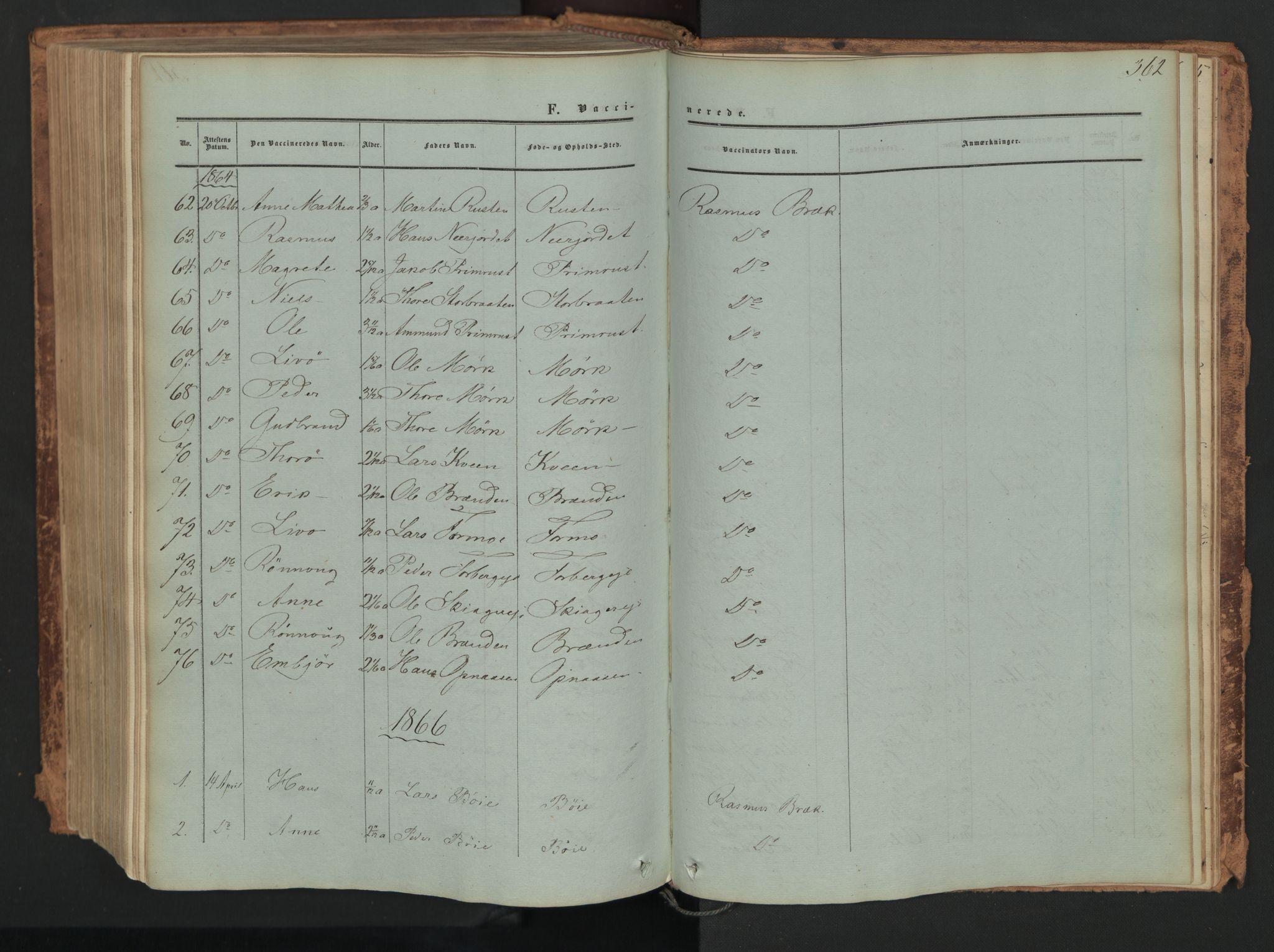 SAH, Skjåk prestekontor, Ministerialbok nr. 1, 1863-1879, s. 362