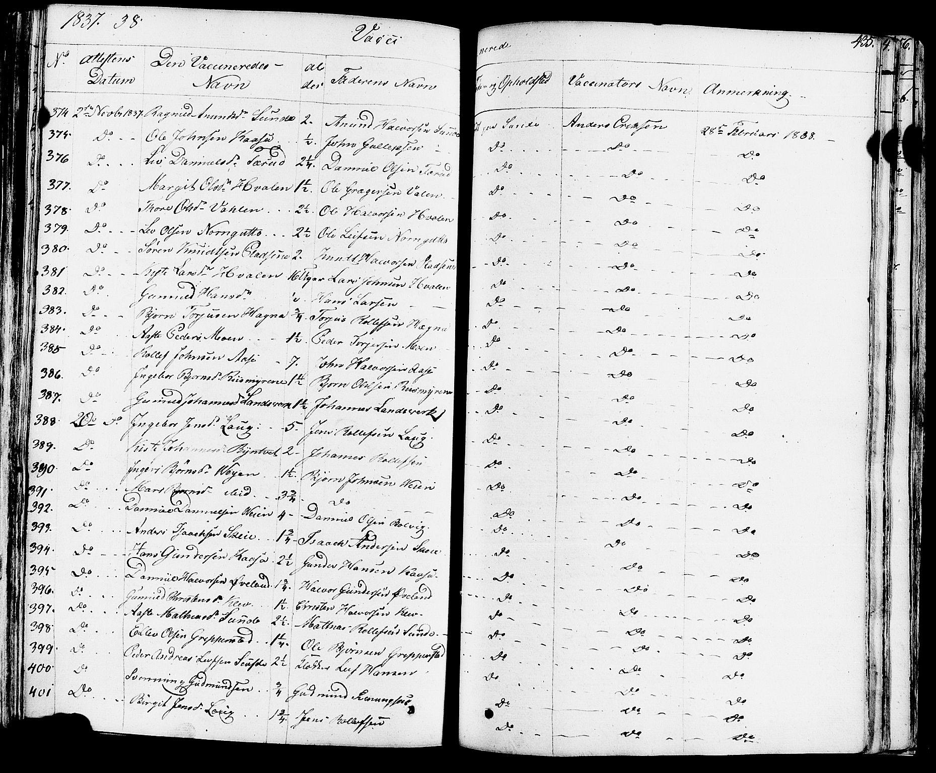 SAKO, Sauherad kirkebøker, F/Fa/L0006: Ministerialbok nr. I 6, 1827-1850, s. 435