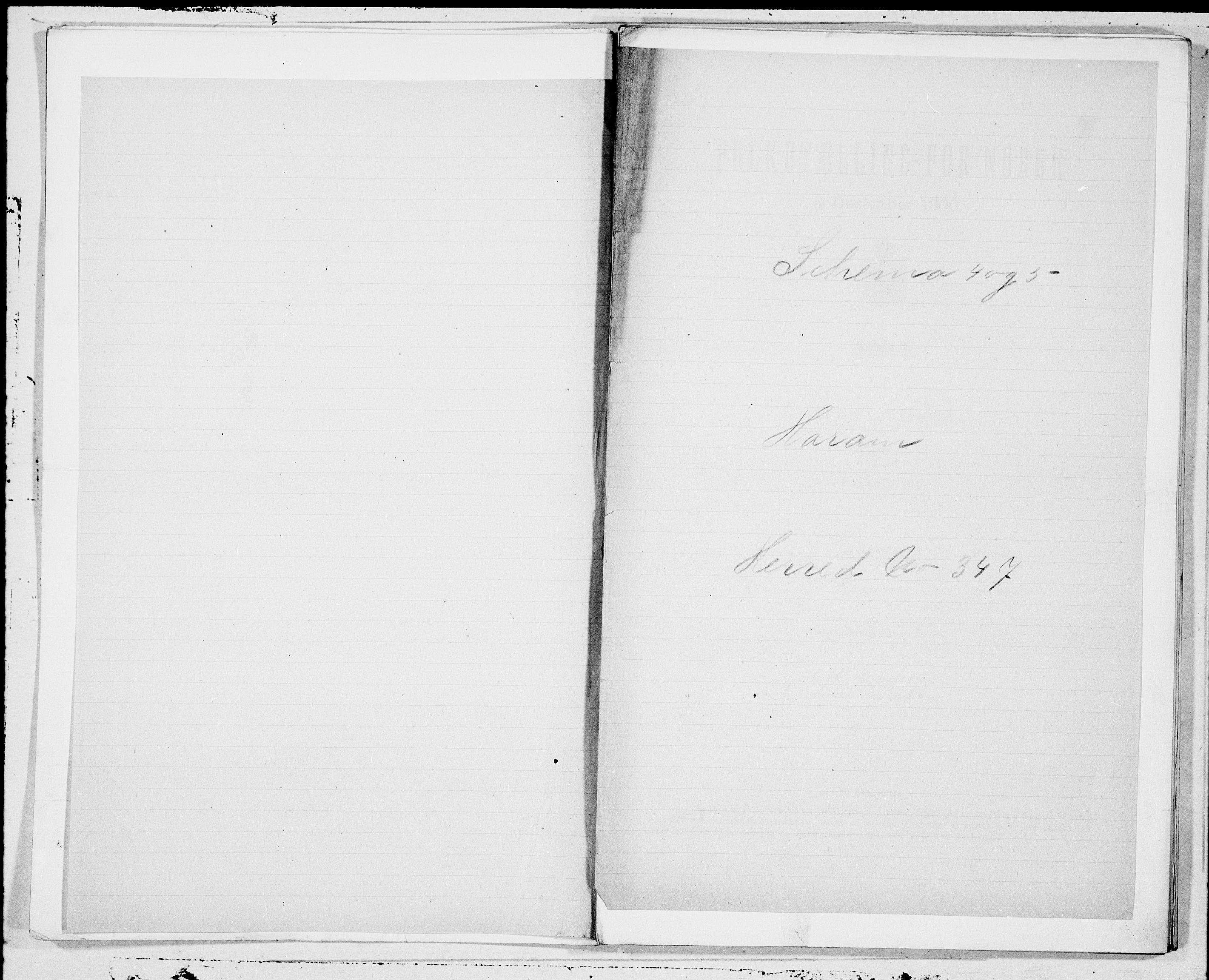 SAT, Folketelling 1900 for 1534 Haram herred, 1900, s. 1