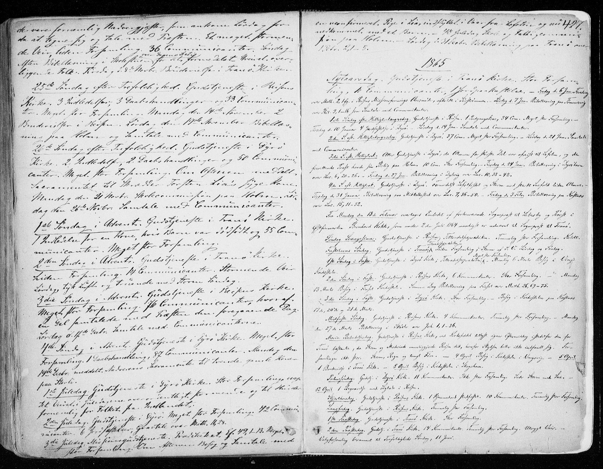 SATØ, Tranøy sokneprestkontor, I/Ia/Iaa/L0007kirke: Ministerialbok nr. 7, 1856-1866, s. 427
