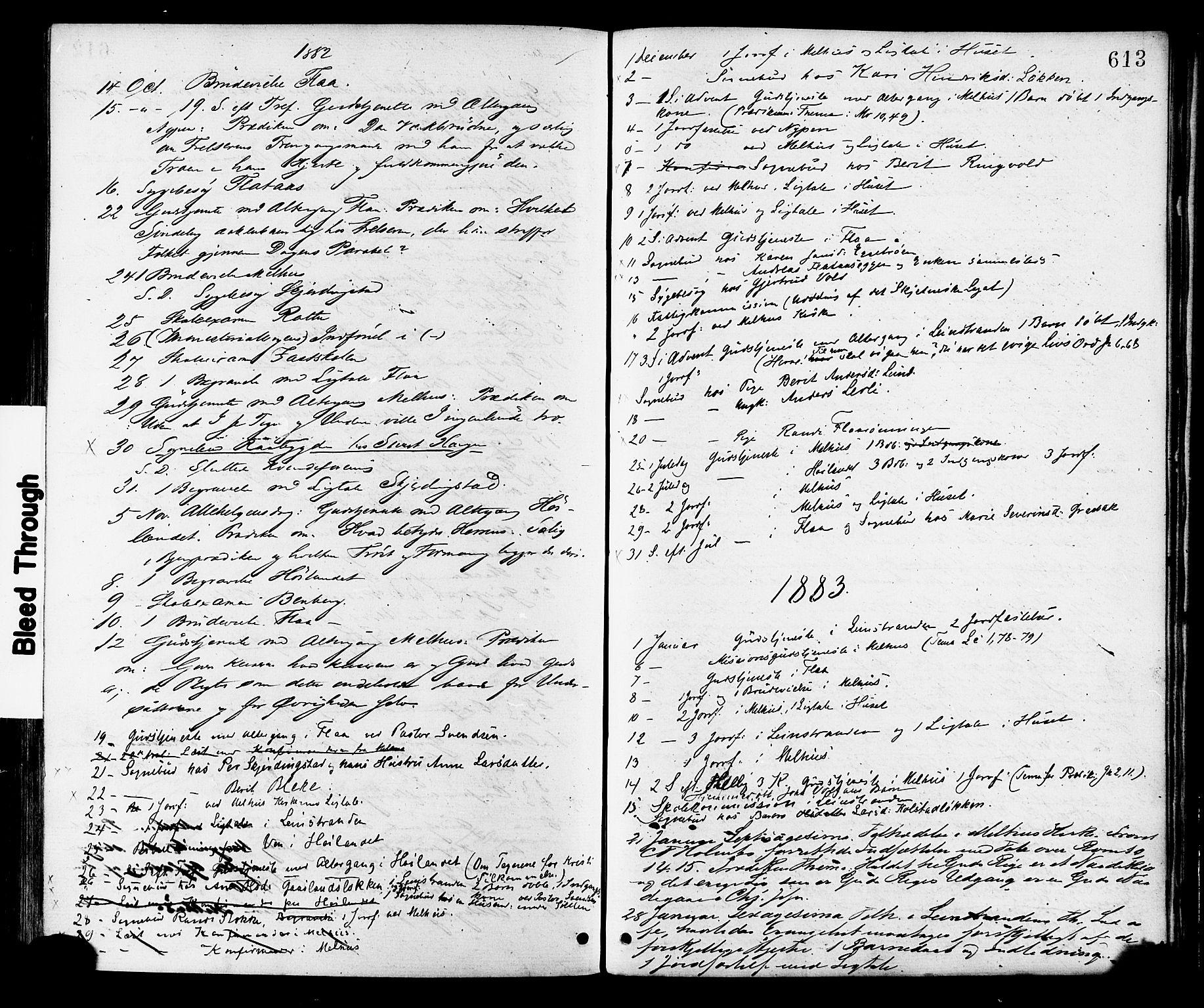 SAT, Ministerialprotokoller, klokkerbøker og fødselsregistre - Sør-Trøndelag, 691/L1079: Ministerialbok nr. 691A11, 1873-1886, s. 613