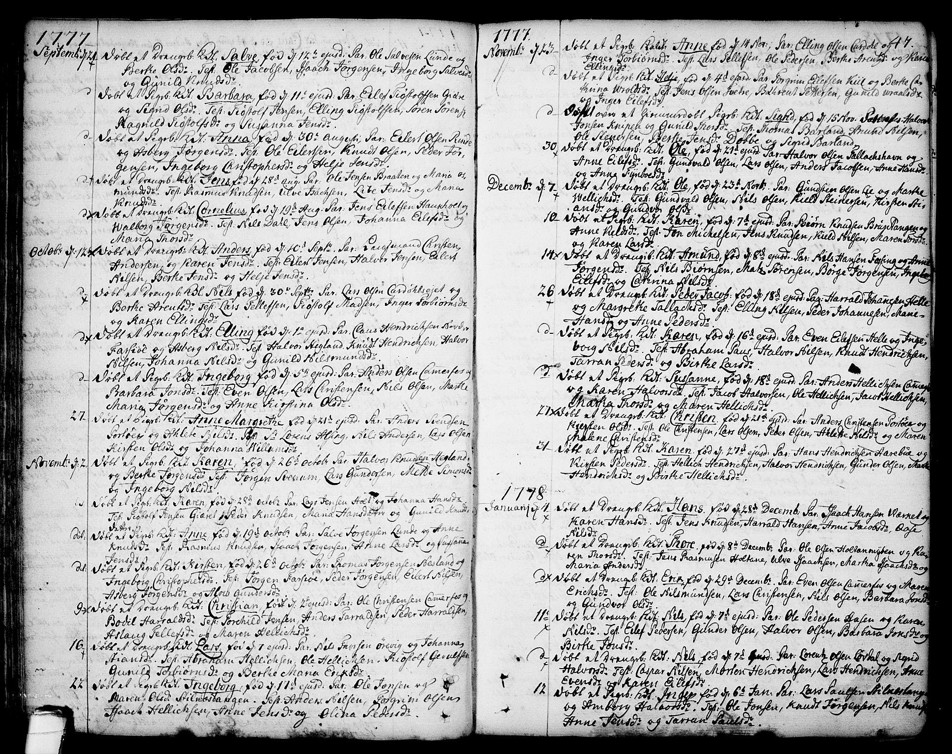 SAKO, Sannidal kirkebøker, F/Fa/L0002: Ministerialbok nr. 2, 1767-1802, s. 47