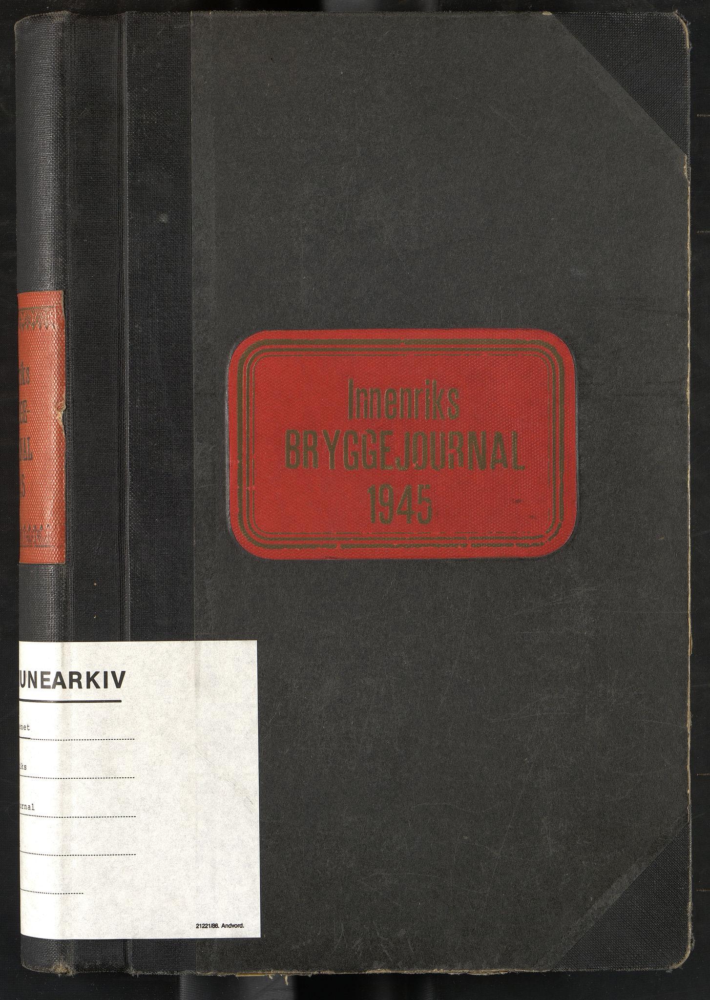 OBA, Oslo havnevesen, Fa/Fad/L0057: Innenriks bryggejournal, 1945