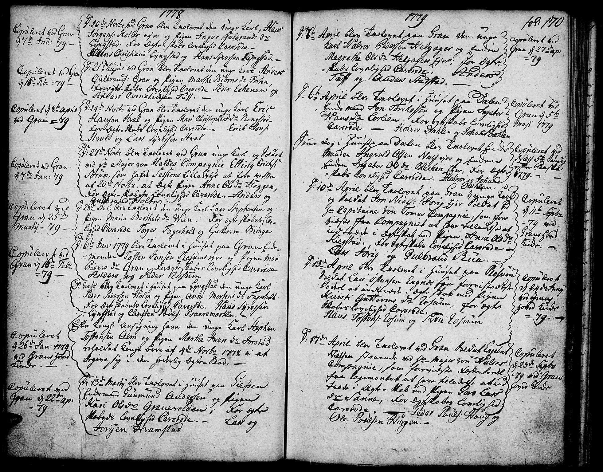 SAH, Gran prestekontor, Ministerialbok nr. 5, 1776-1788, s. 170